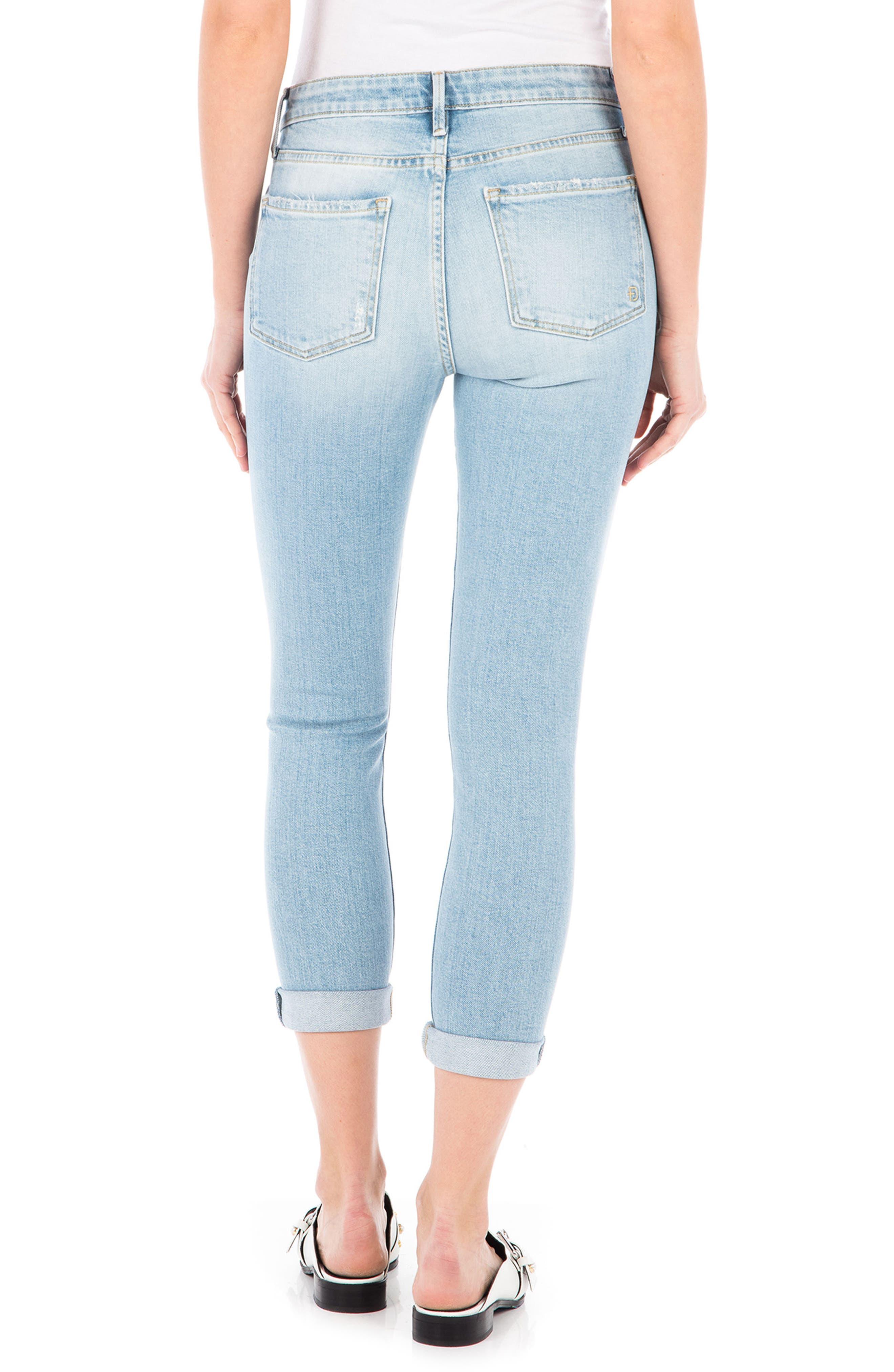 Gwen High Waist Crop Skinny Jeans,                             Alternate thumbnail 2, color,                             Daydream Blue