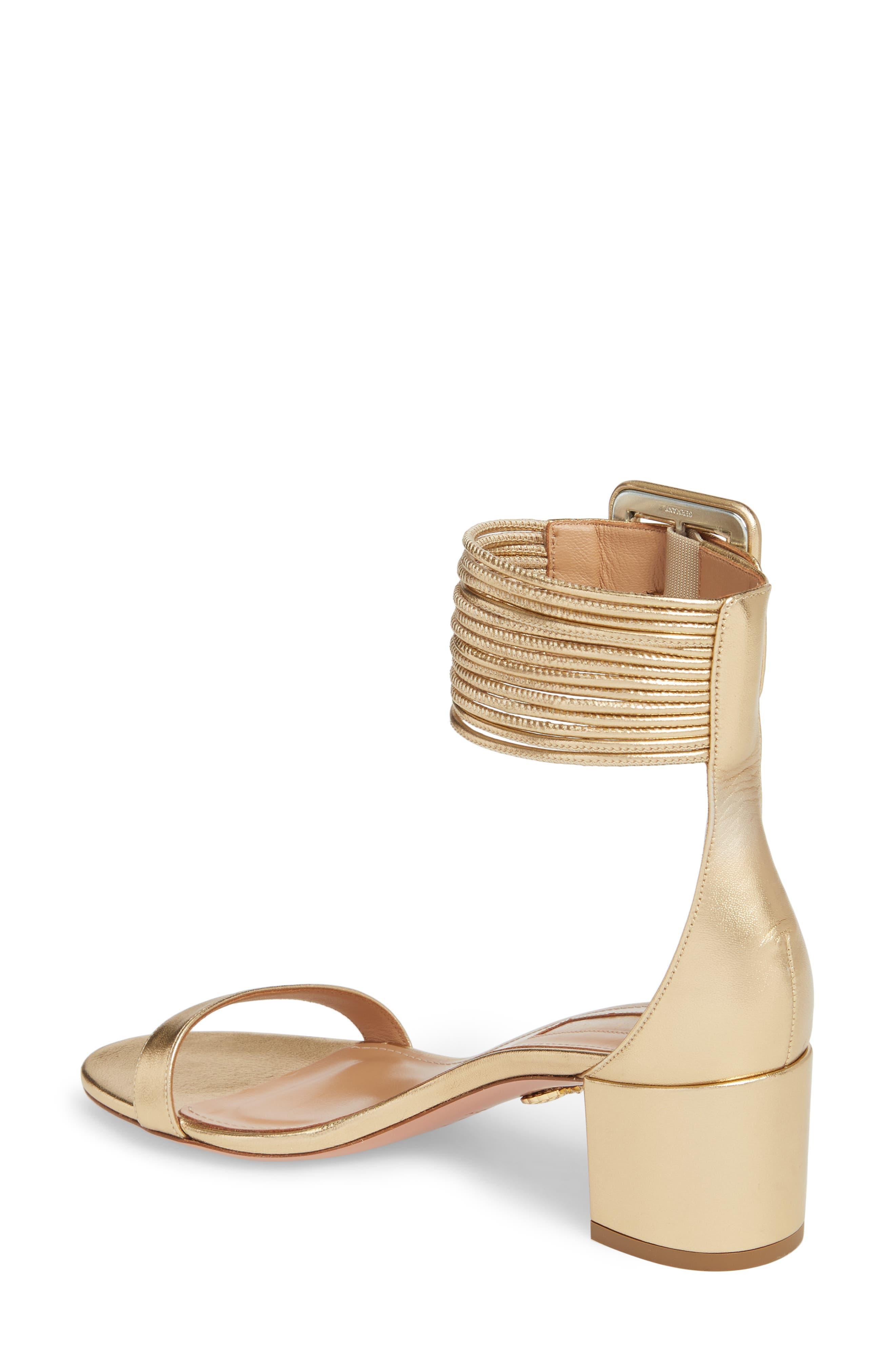 Casablanca Ankle Cuff Sandal,                             Alternate thumbnail 2, color,                             Soft Gold