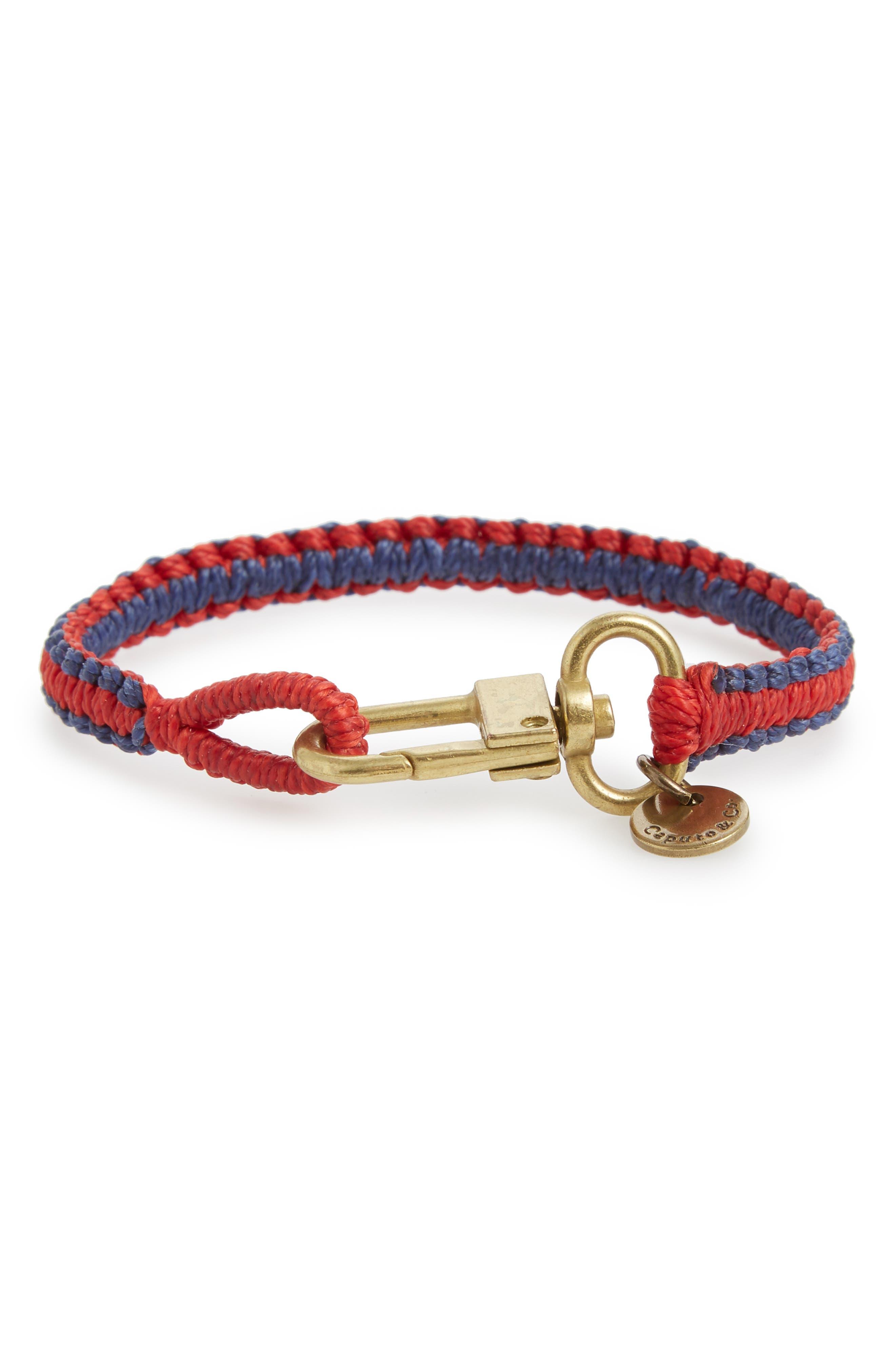 Reversible Bracelet,                         Main,                         color, Red/ Navy