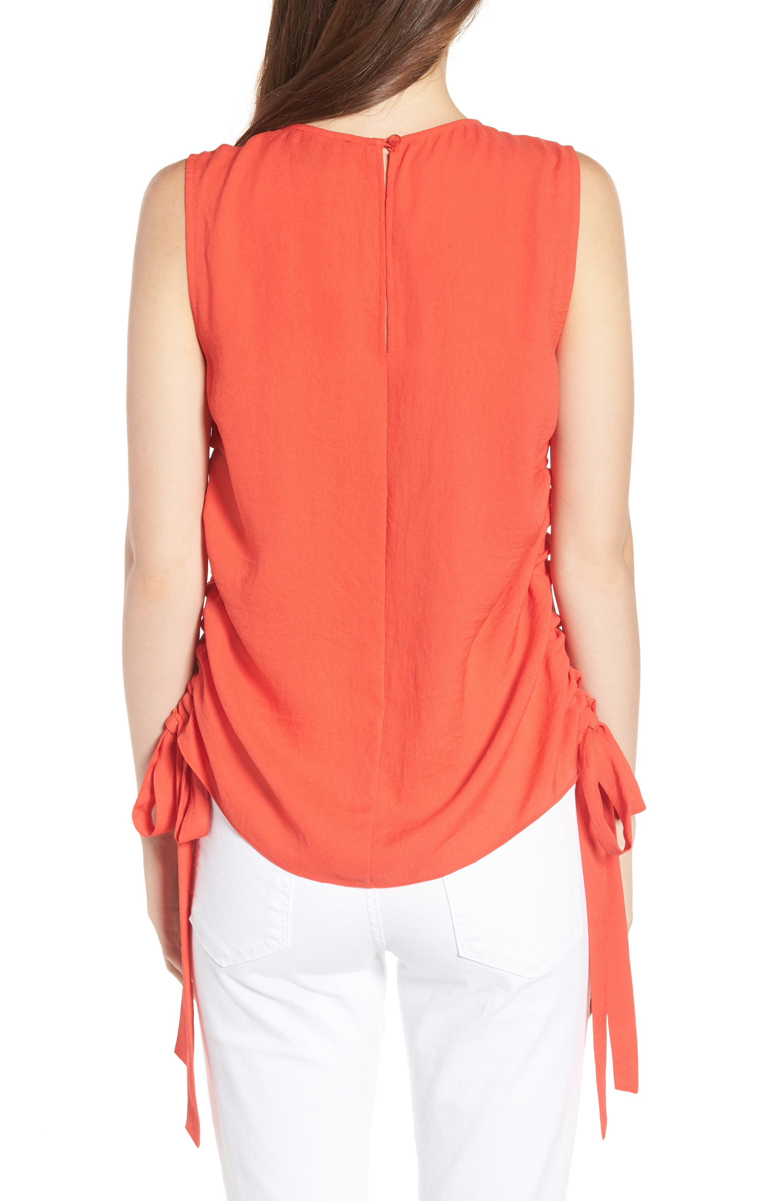 Side Cinch Tank,                             Alternate thumbnail 2, color,                             Red Poppy