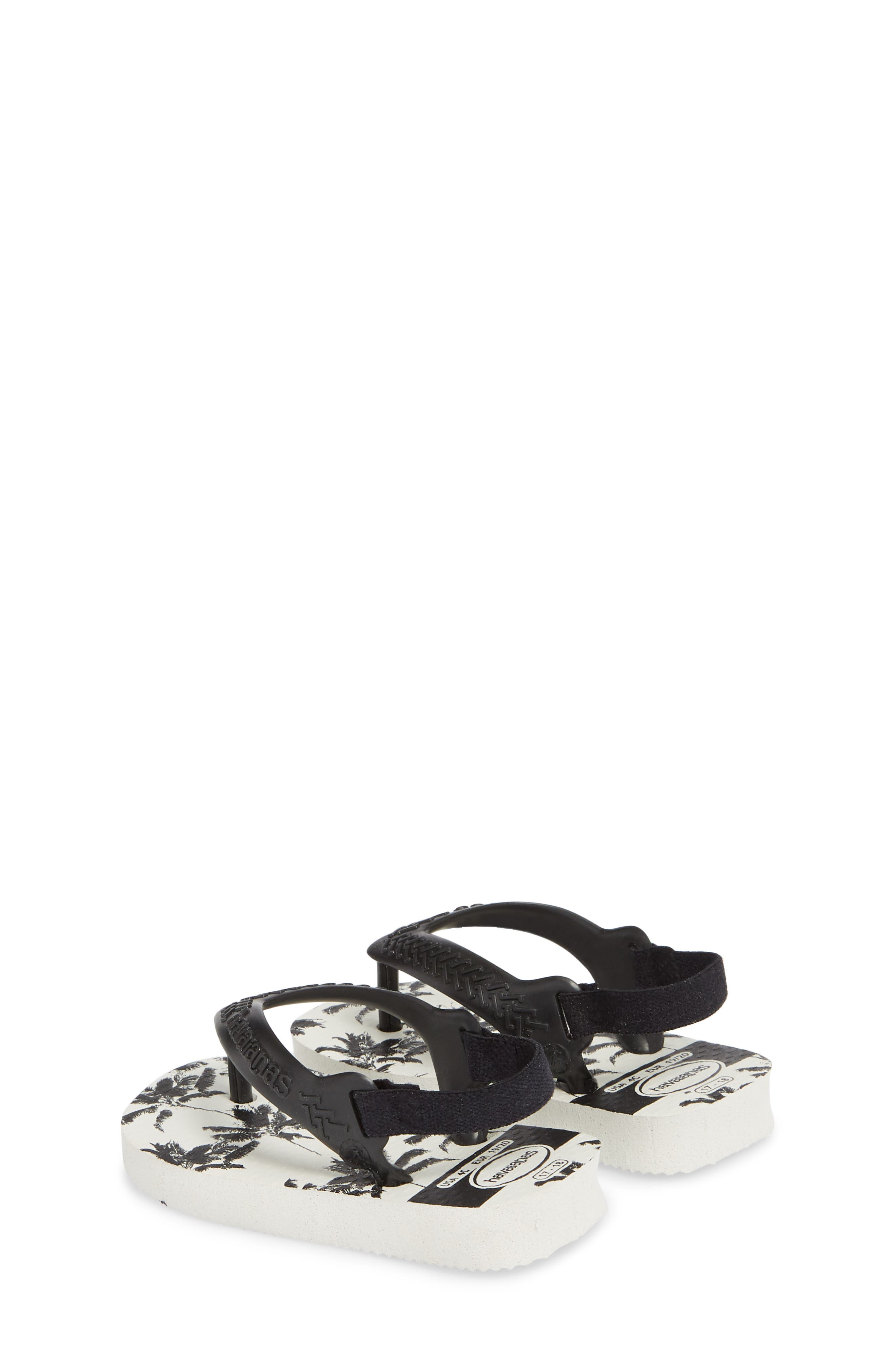 Havianas Baby Chic Sandal,                             Alternate thumbnail 2, color,                             White/ Black/ Black