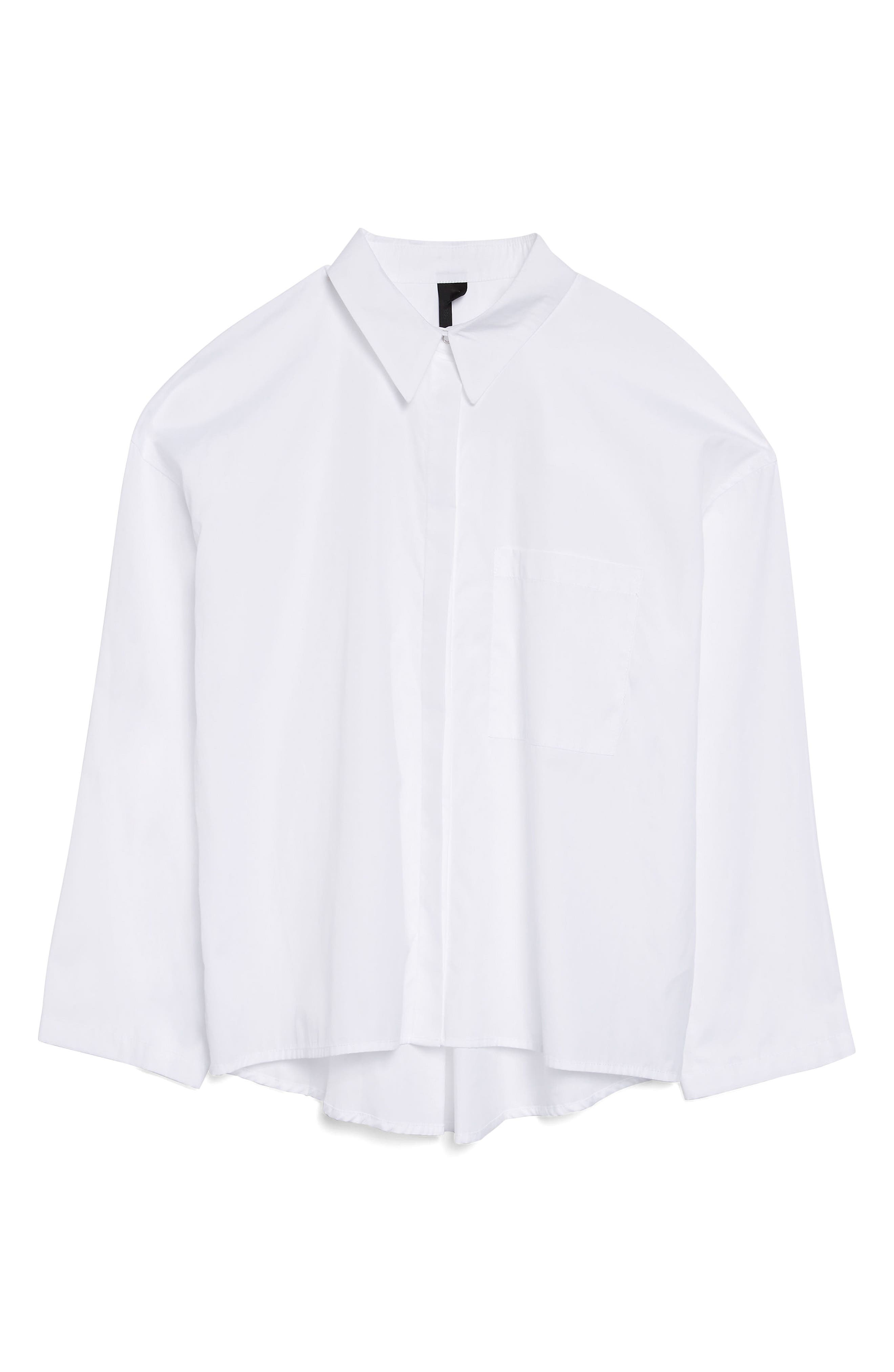 Topshop Boutique Popper Sleeve Boxy Shirt