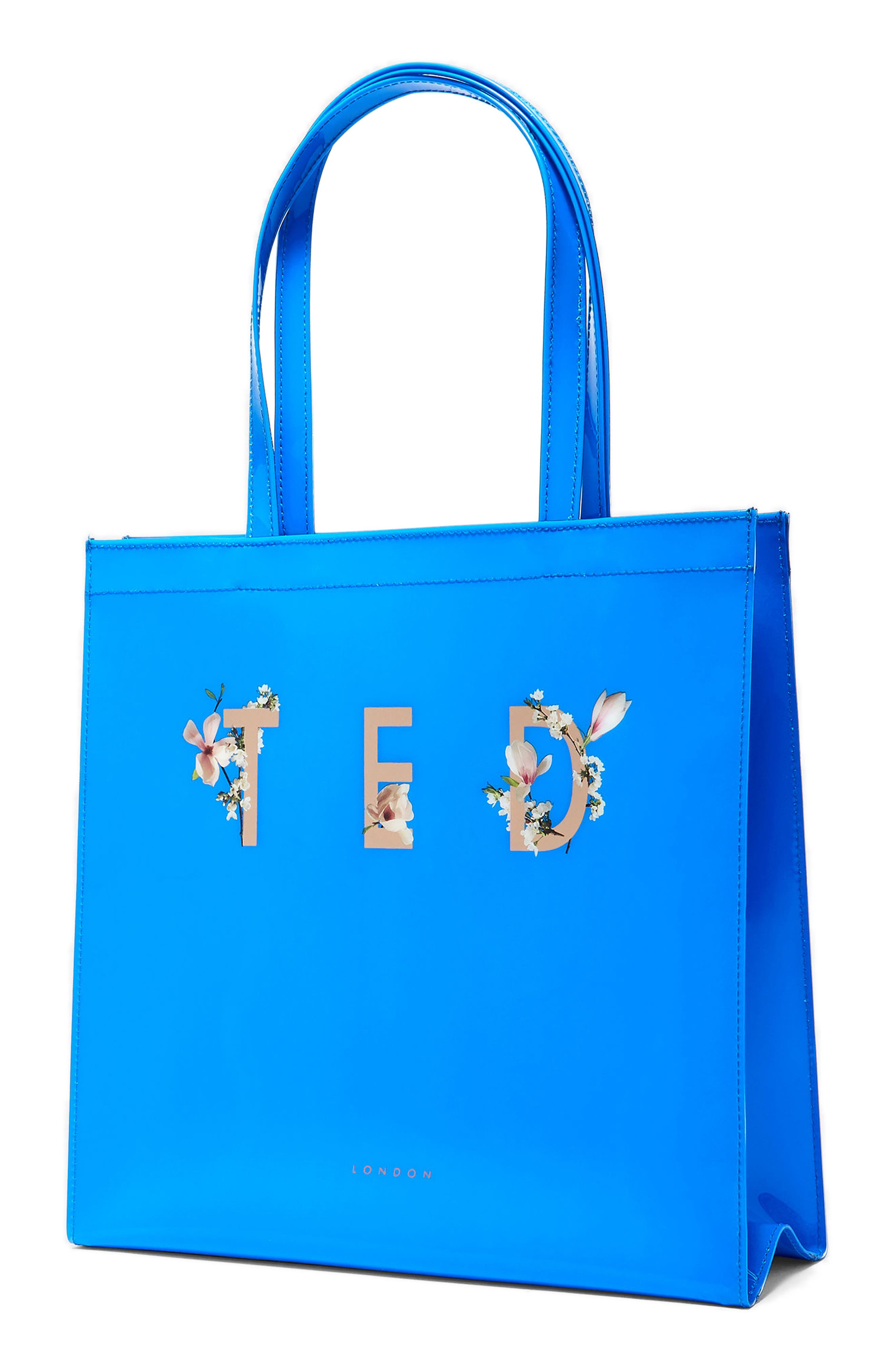 Theacon Large Icon Tote,                             Alternate thumbnail 3, color,                             Bright Blue