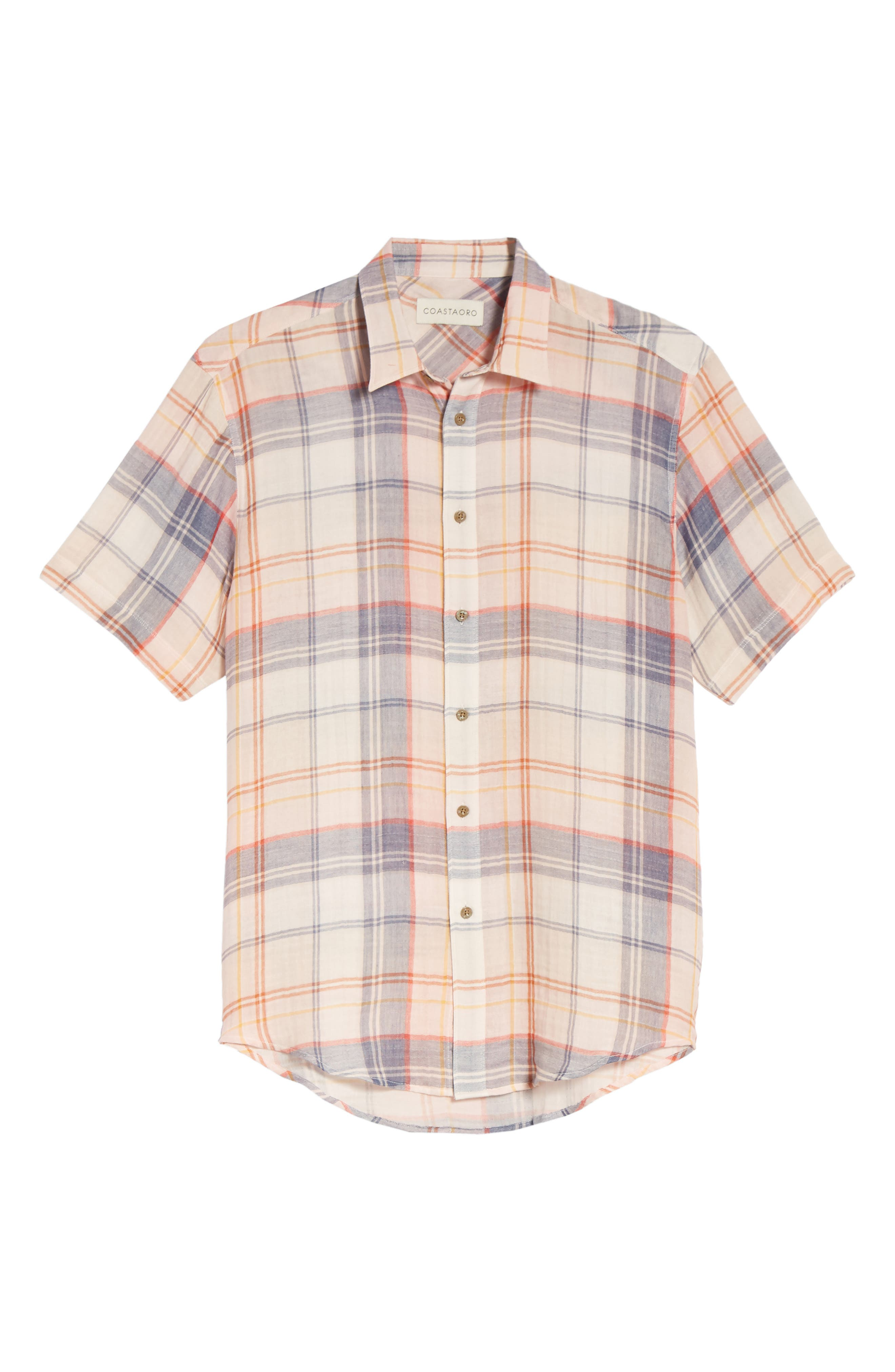 Tradewinds Regular Fit Short Sleeve Sport Shirt,                             Alternate thumbnail 6, color,                             Rose