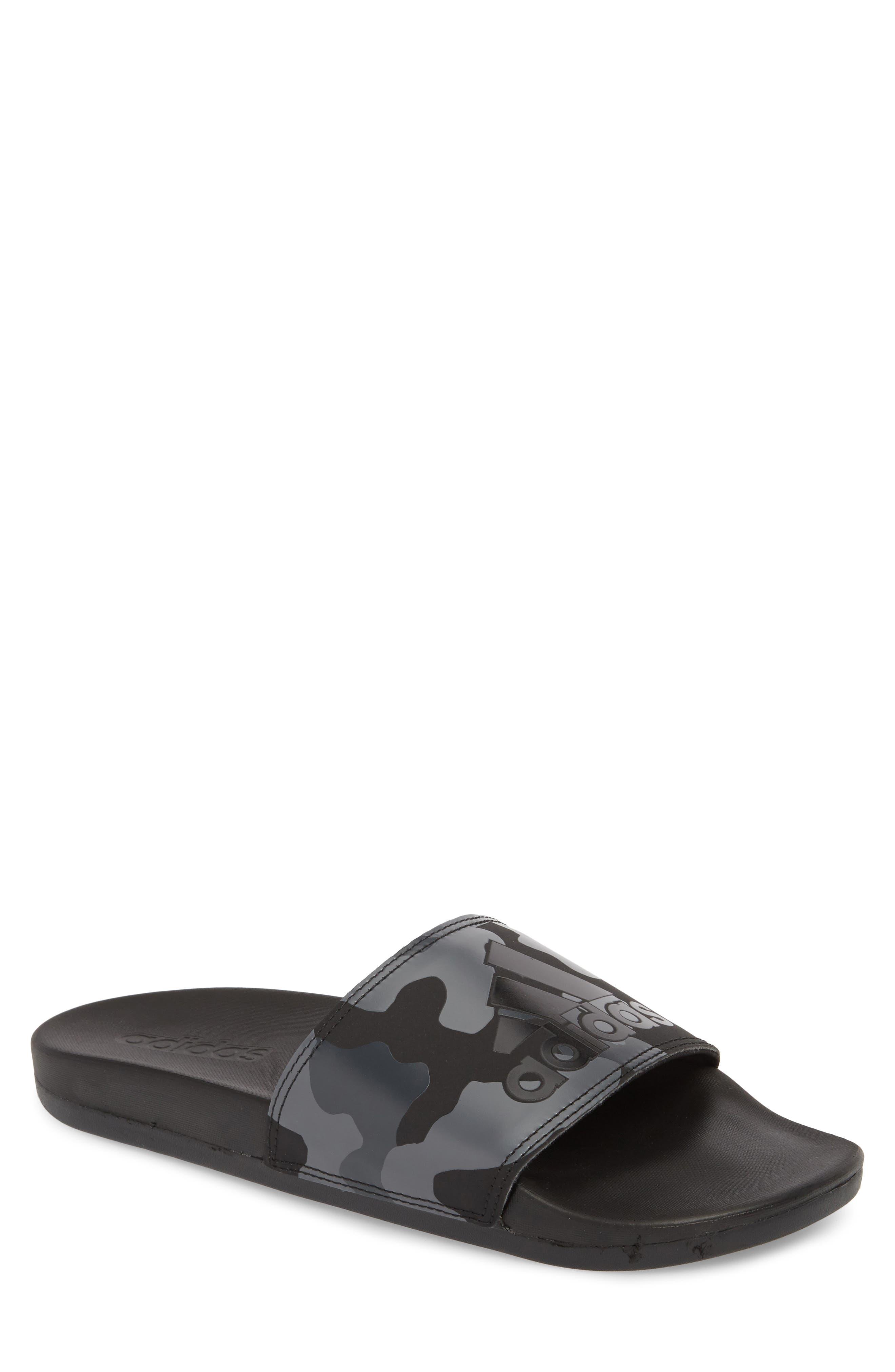 Cloudfoam Plus Slide Sandal,                             Main thumbnail 1, color,                             Core Black/ White/ Carbon