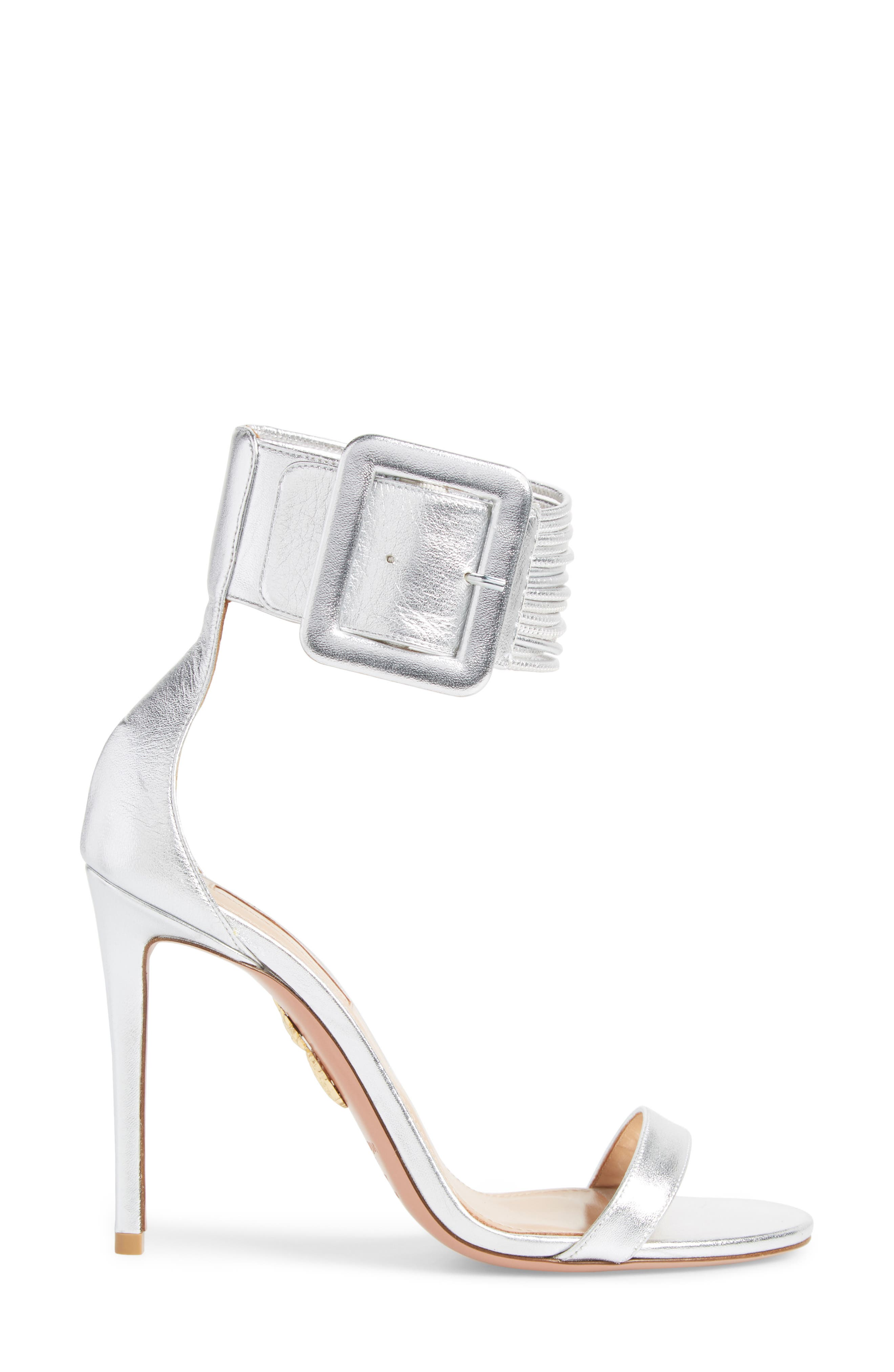 Casablanca Ankle Cuff Sandal,                             Alternate thumbnail 3, color,                             Silver