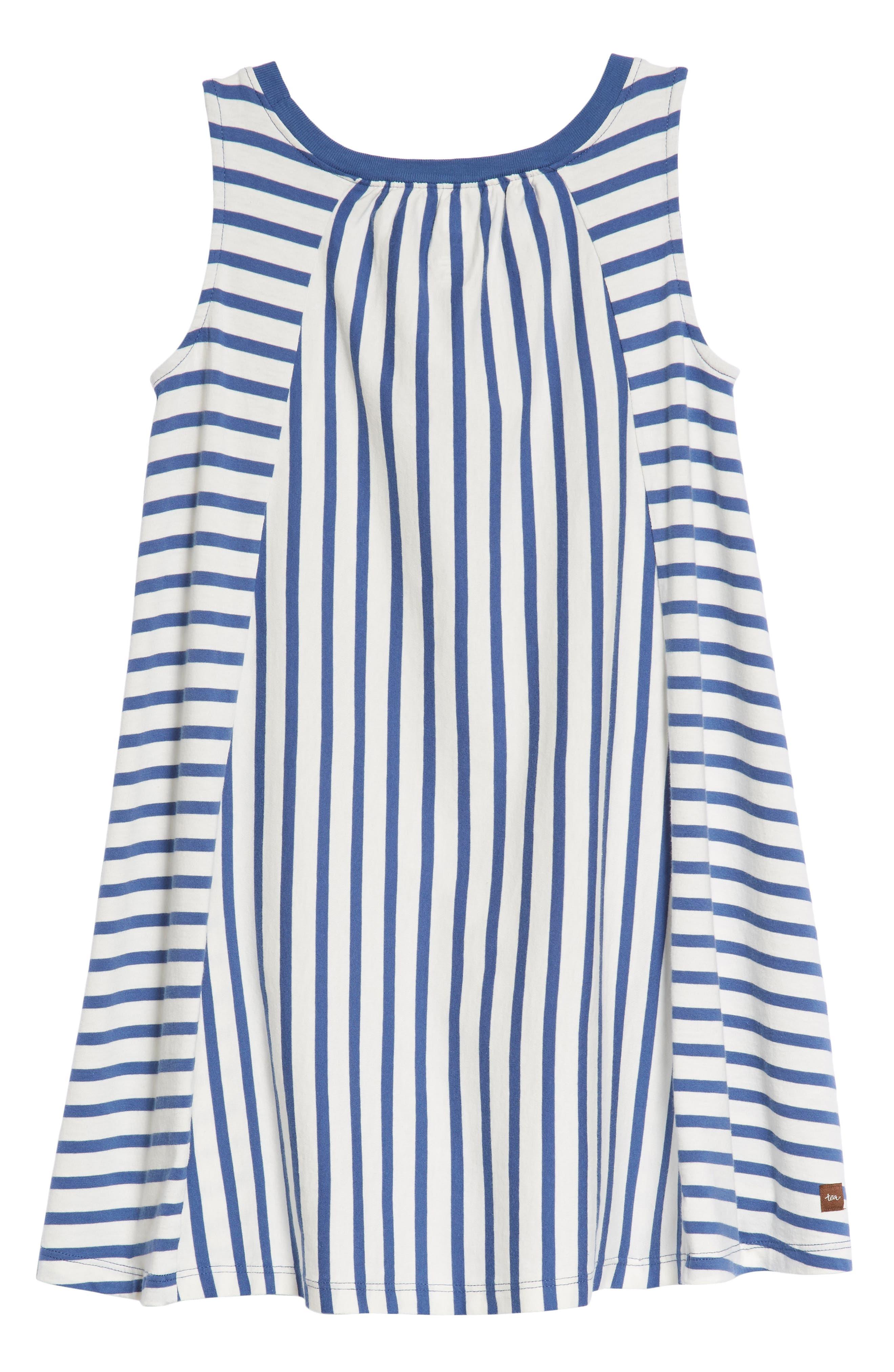 Stripe Trapeze Dress,                             Alternate thumbnail 2, color,                             Cobalt