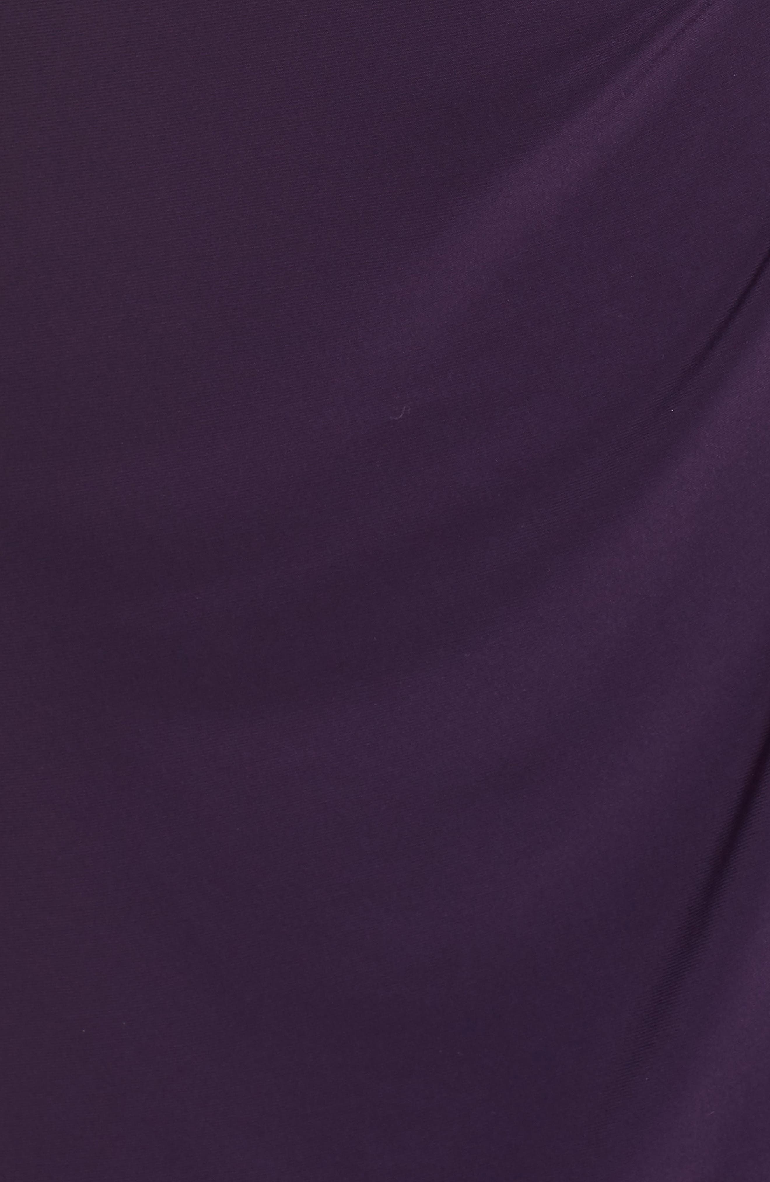 Embellished Ruffle Detail Shift Dress,                             Alternate thumbnail 6, color,                             Eggplant