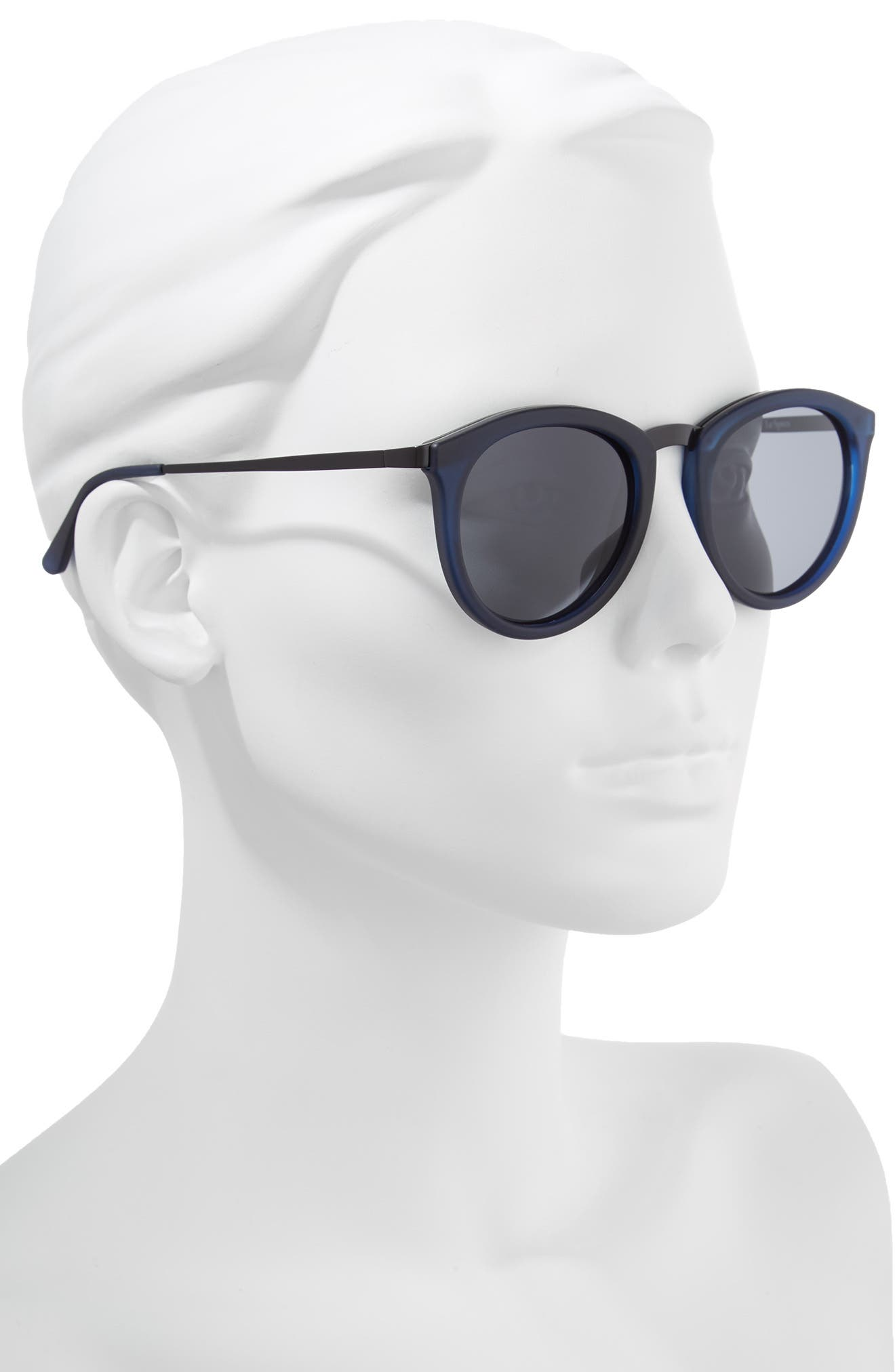 No Smirking 50mm Polarized Sunglasses,                             Alternate thumbnail 2, color,                             Navy Rubber