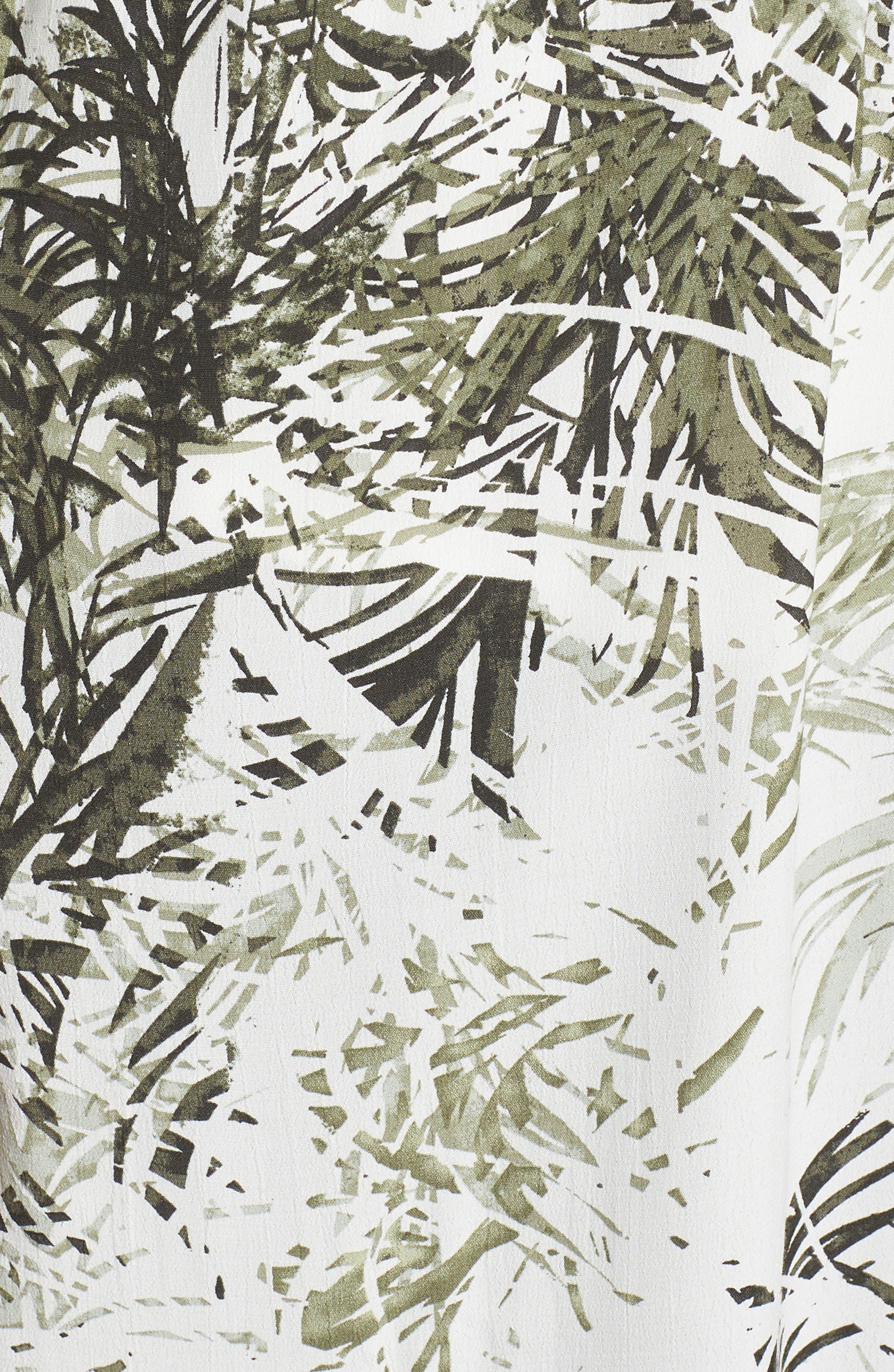 Calico Kimono,                             Alternate thumbnail 6, color,                             Tiki Palm