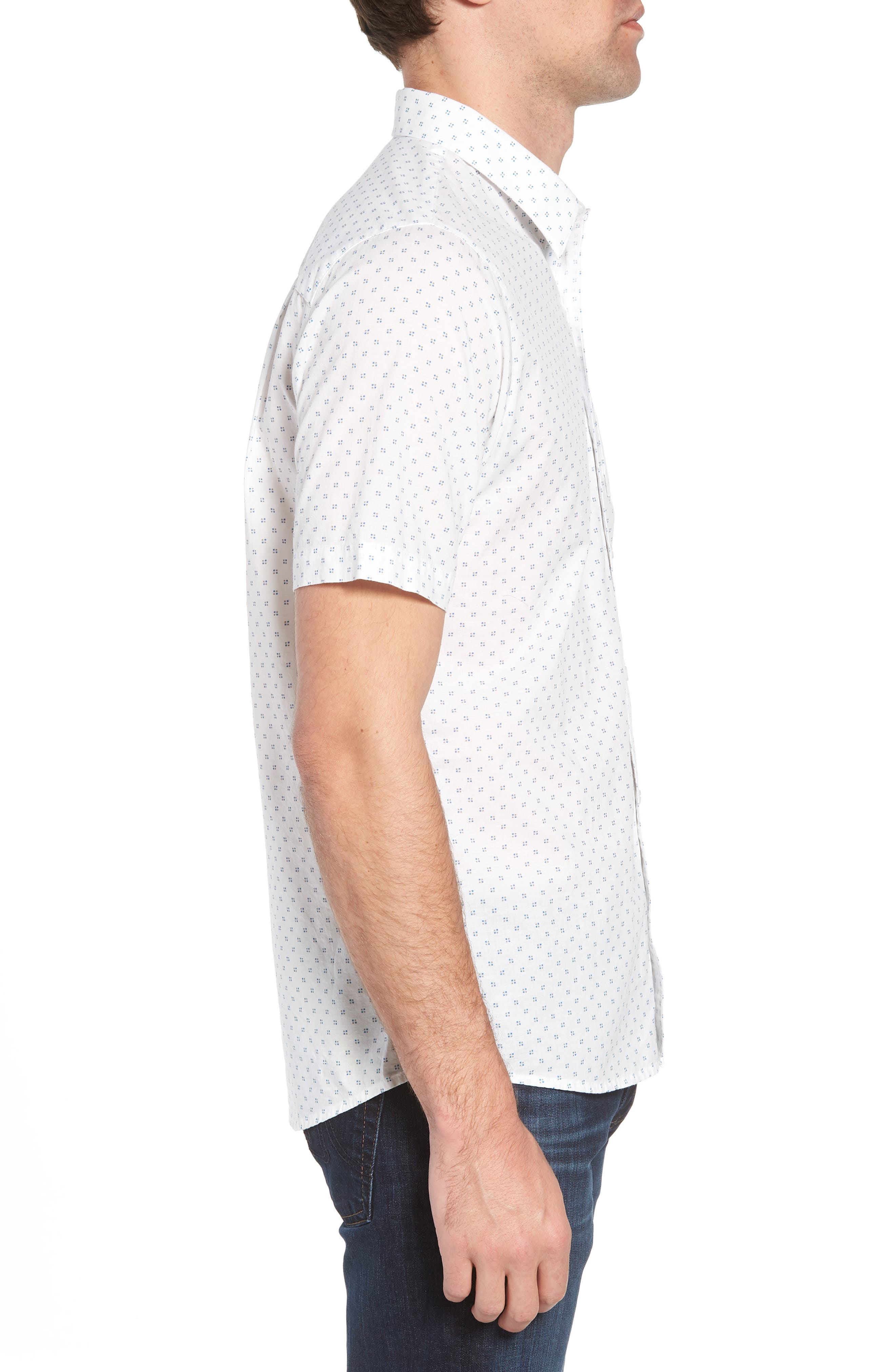 Nangs Print Sport Shirt,                             Alternate thumbnail 4, color,                             White