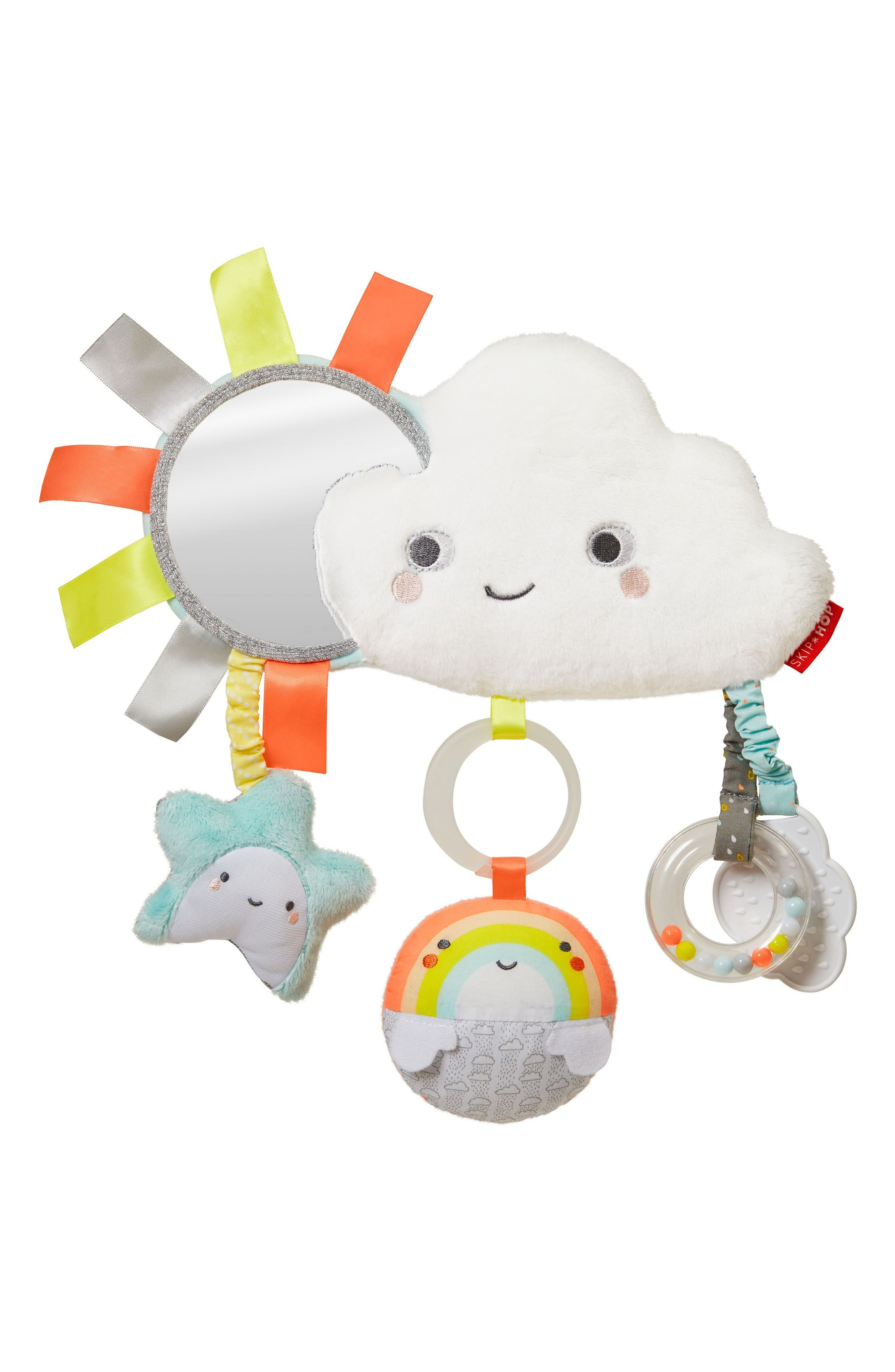 Silver Lining Cloud Stroller Bar Toy,                             Main thumbnail 1, color,                             Multi