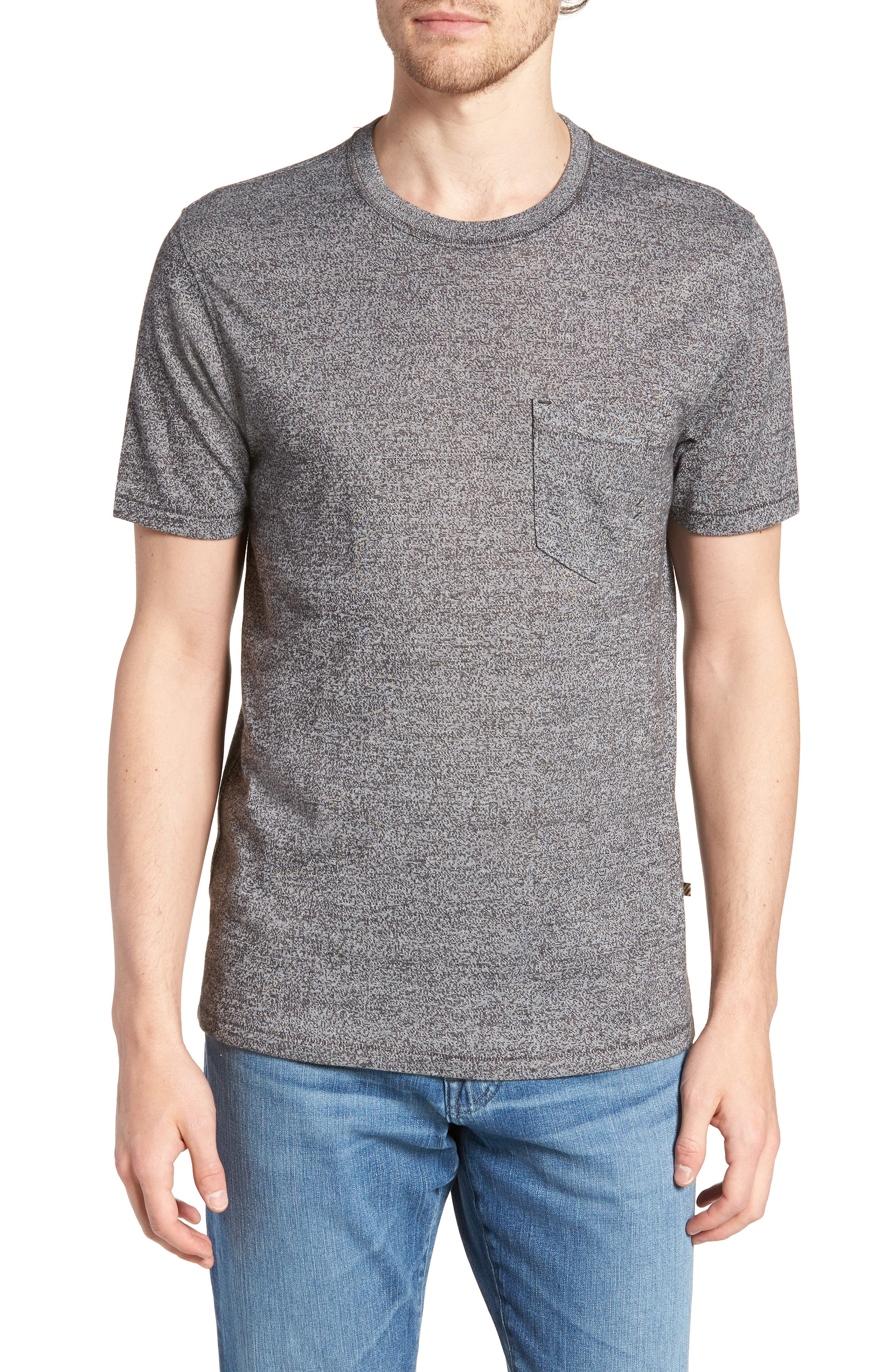 Mouline Pocket T-Shirt,                             Main thumbnail 1, color,                             Dark Grey