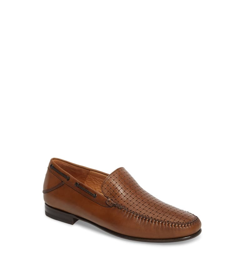 Jano Embossed Moc-Toe Loafer