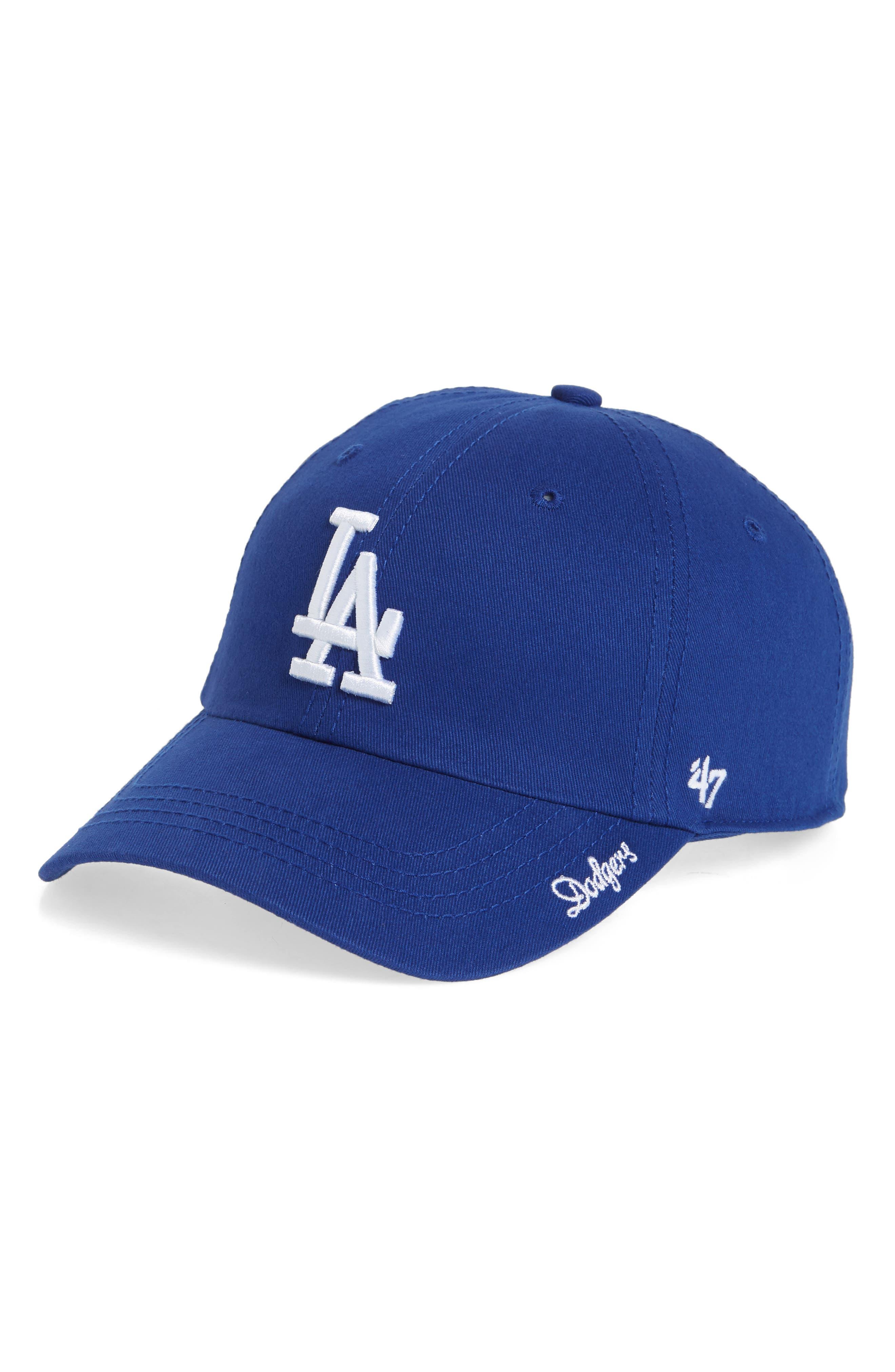 Miata Clean-Up Los Angeles Dodgers Baseball Cap,                         Main,                         color, Royal