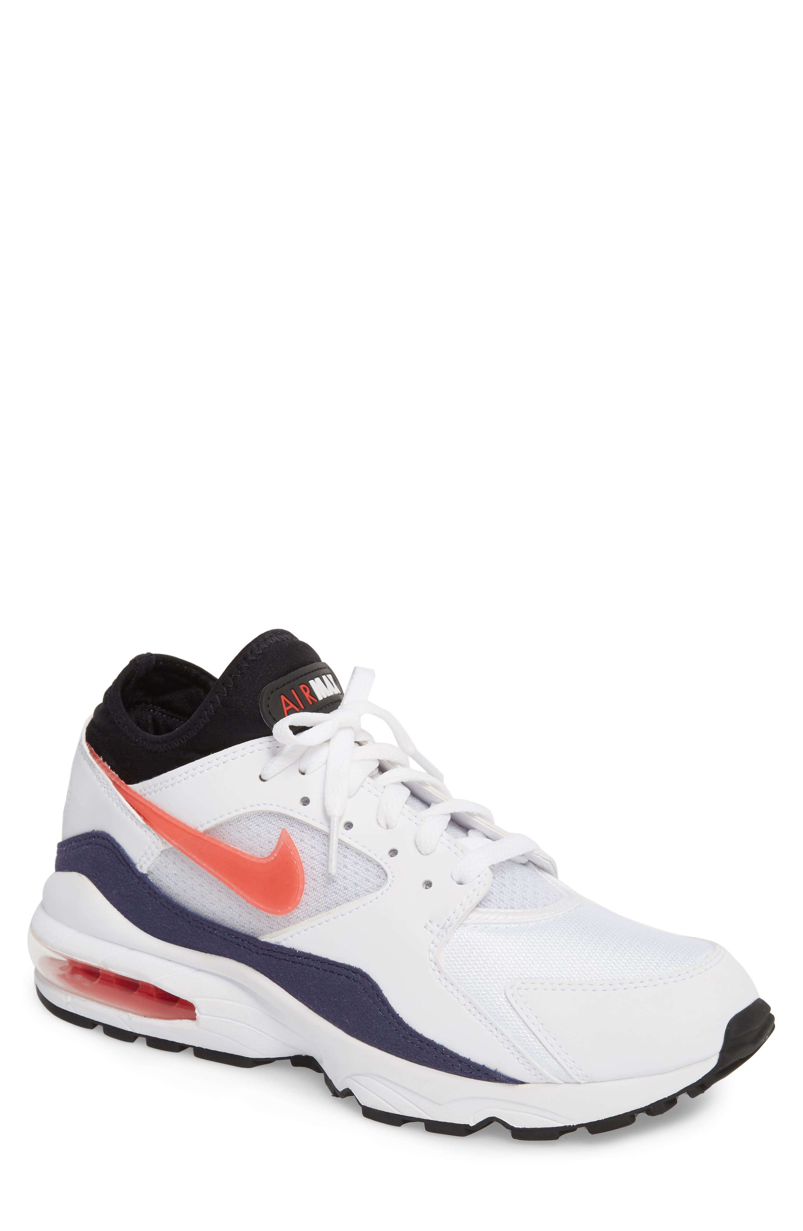 Free Shipping 6070 OFF Uk 2014 New Release Nike Air Max 2013 Punching Mens Shoes White Red PSJee