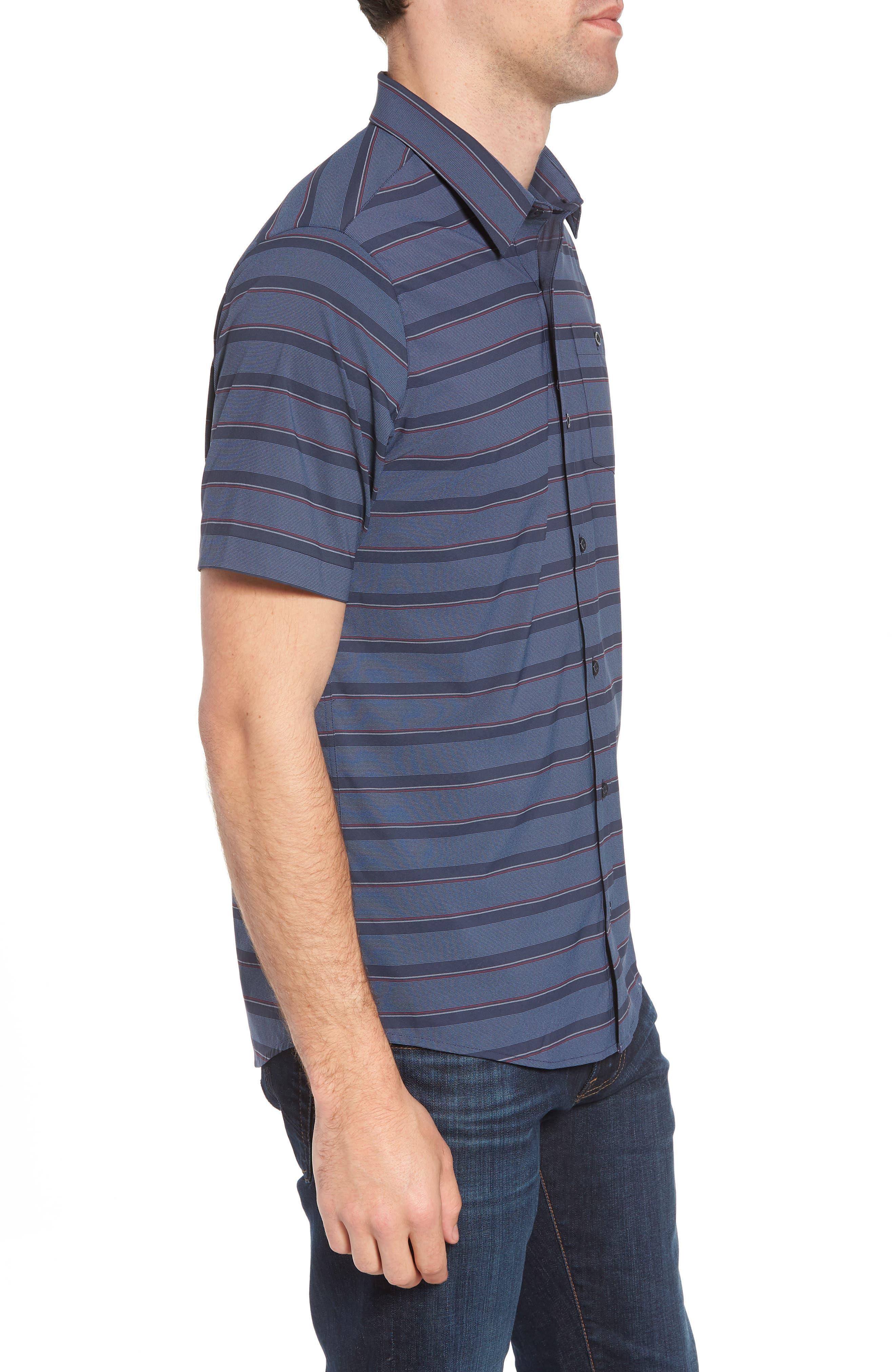 Quiver Regular Fit Sport Shirt,                             Alternate thumbnail 4, color,                             Blue Nights
