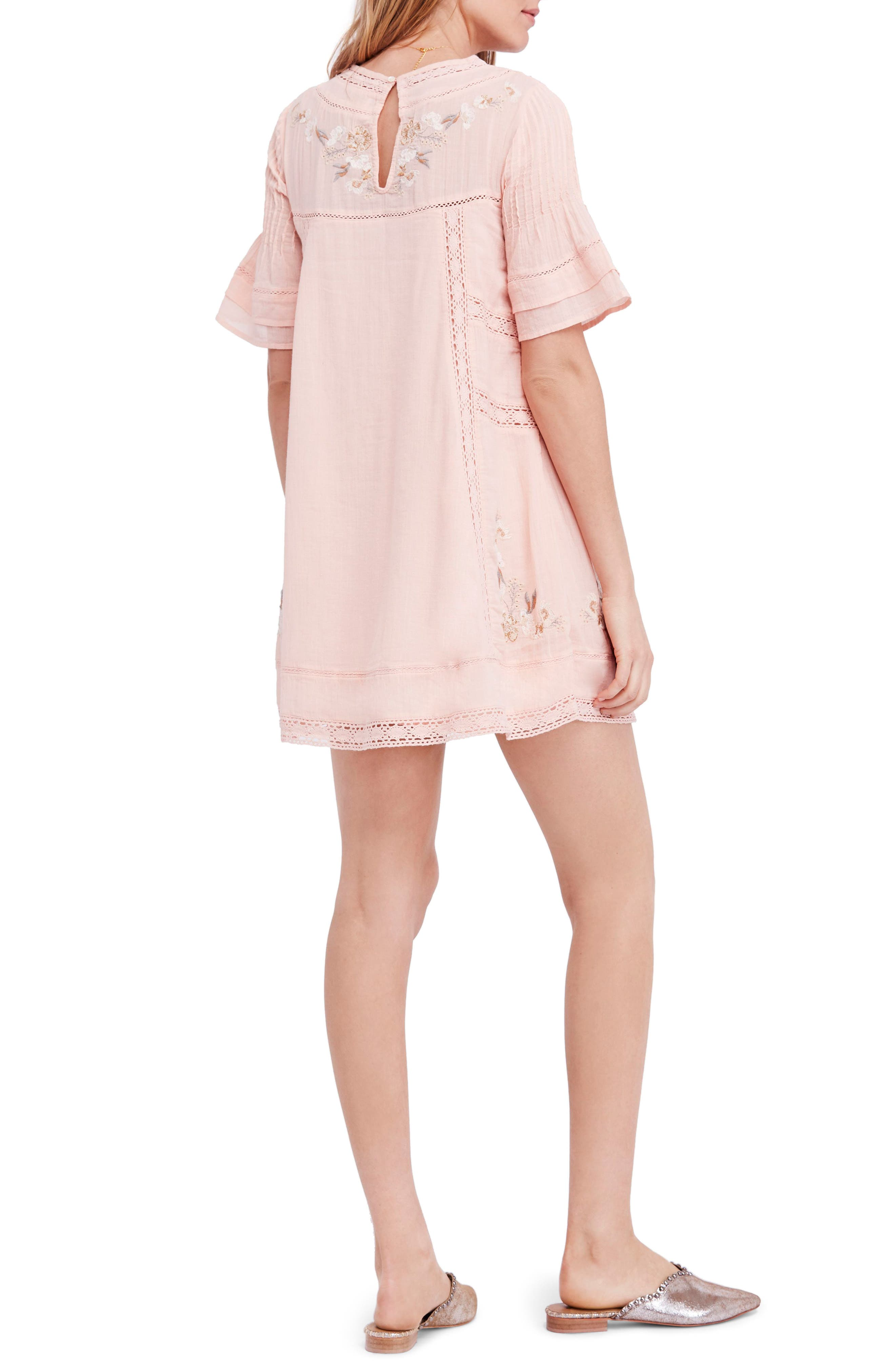 'Perfectly Victorian' Minidress,                             Alternate thumbnail 2, color,                             Pink
