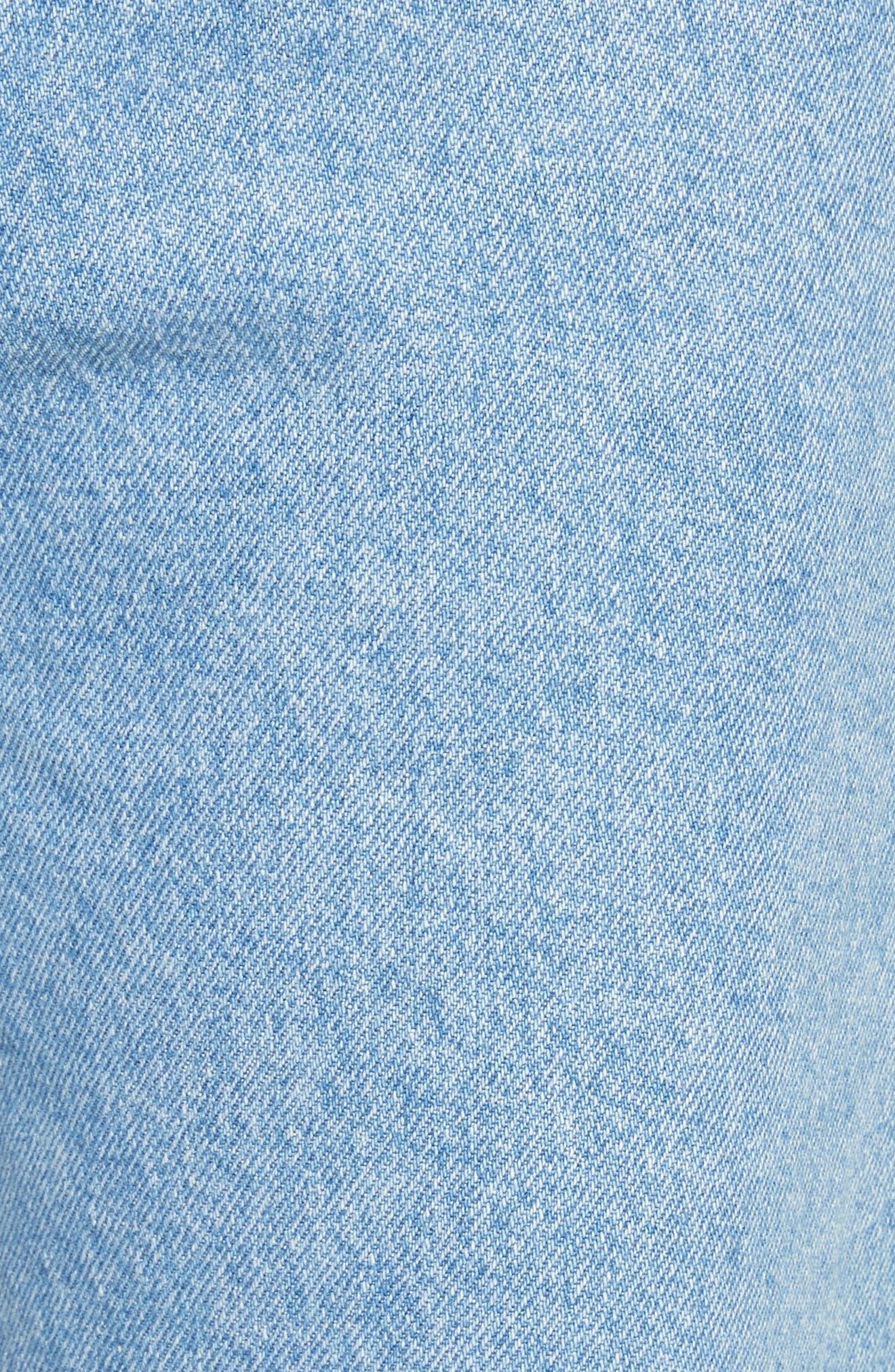 EL Wide Leg Jeans,                             Alternate thumbnail 5, color,                             True Blue