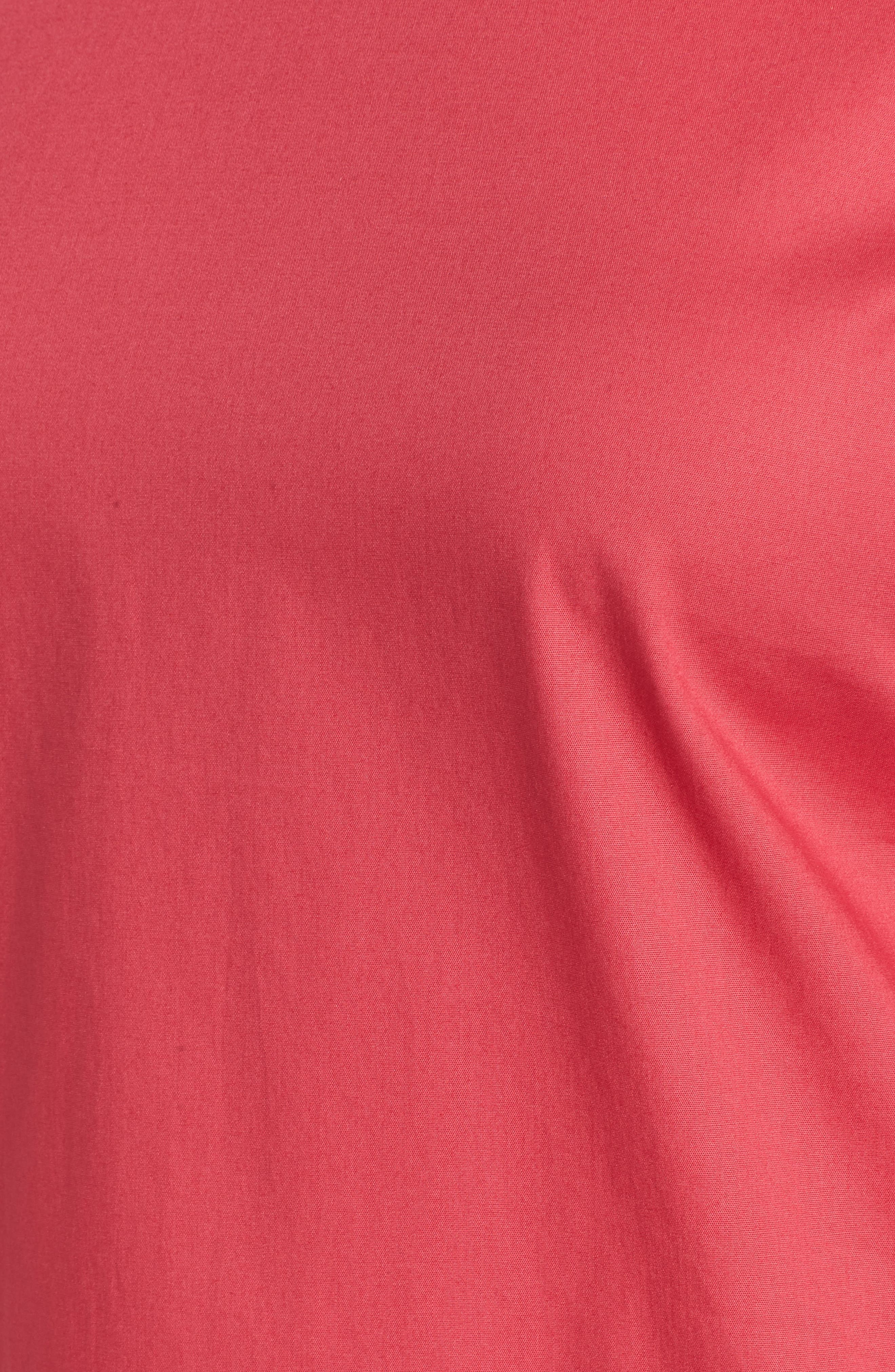 Isolema Stretch Cotton Bow Sleeve Top,                             Alternate thumbnail 5, color,                             Lychee Pink