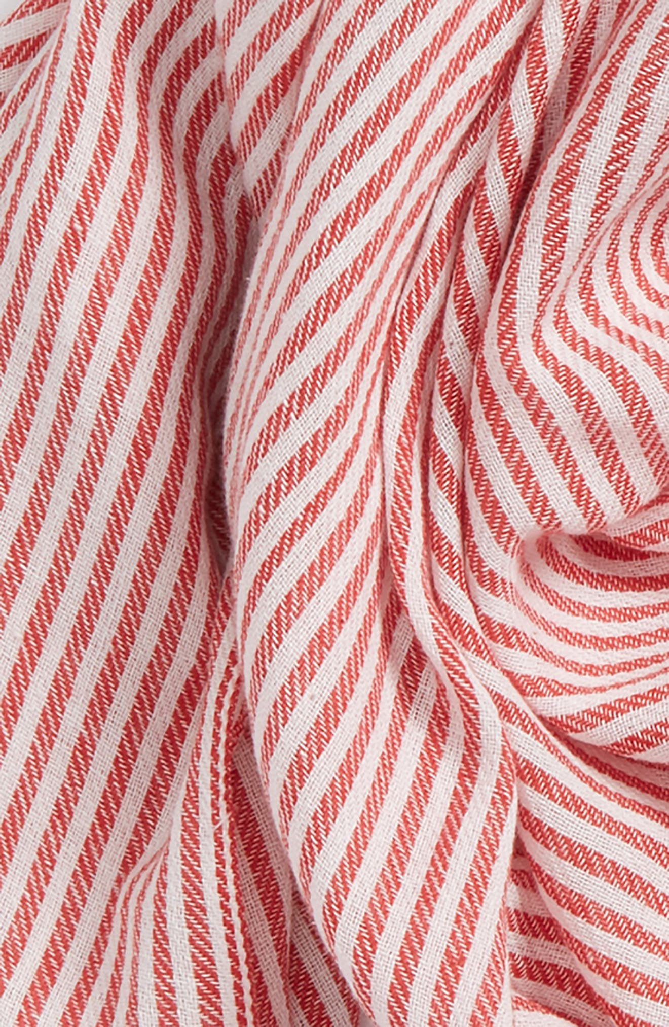 Engineer Stripe Scarf,                             Alternate thumbnail 3, color,                             Red Multi