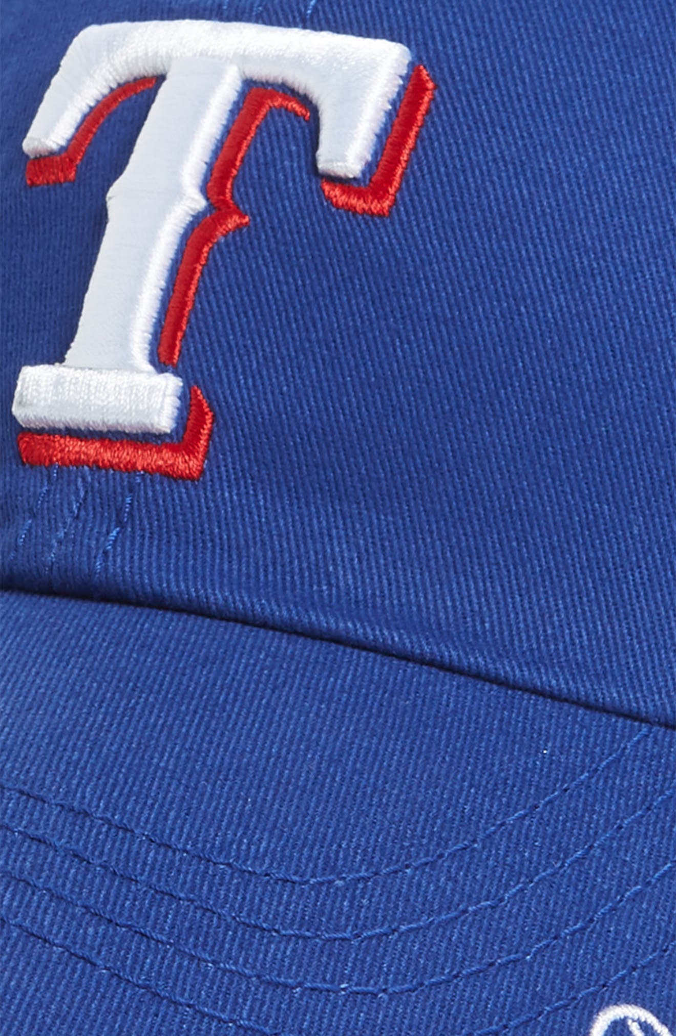 Miata Clean-Up Texas Rangers Baseball Cap,                             Alternate thumbnail 3, color,                             Royal