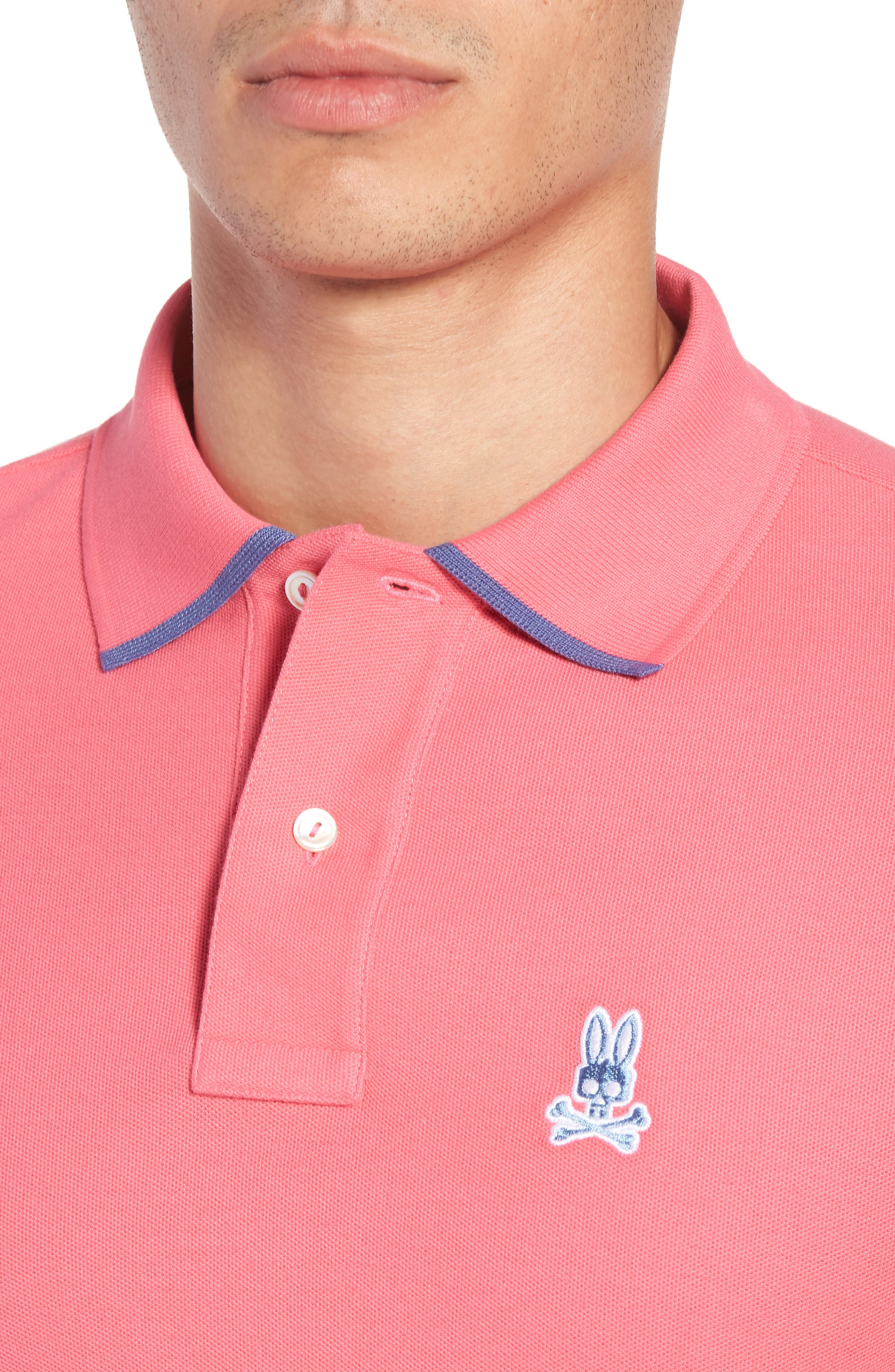 Sandford Polo,                             Alternate thumbnail 4, color,                             Hot Pink