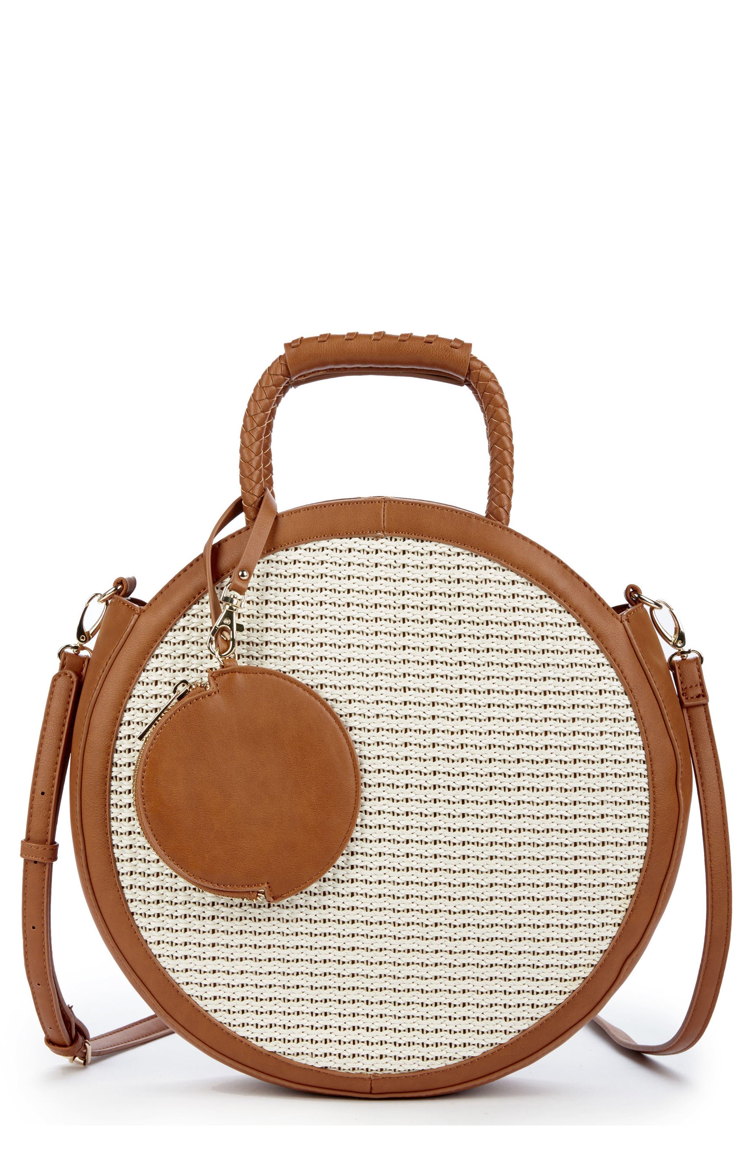 Market Canteen Crossbody Bag,                             Main thumbnail 1, color,                             Camel