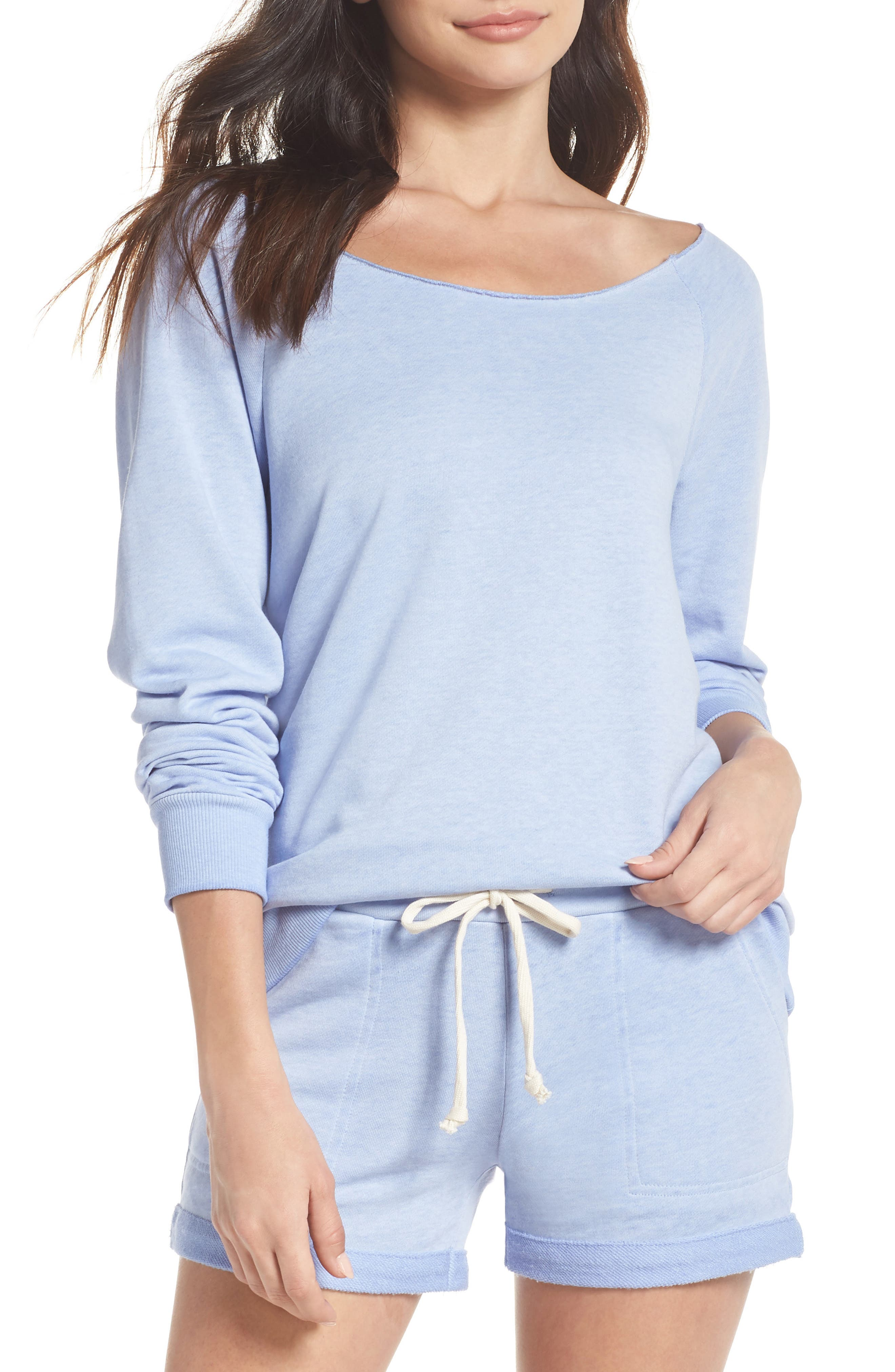 Maniac French Terry Sweatshirt,                         Main,                         color, Lavender Lustre