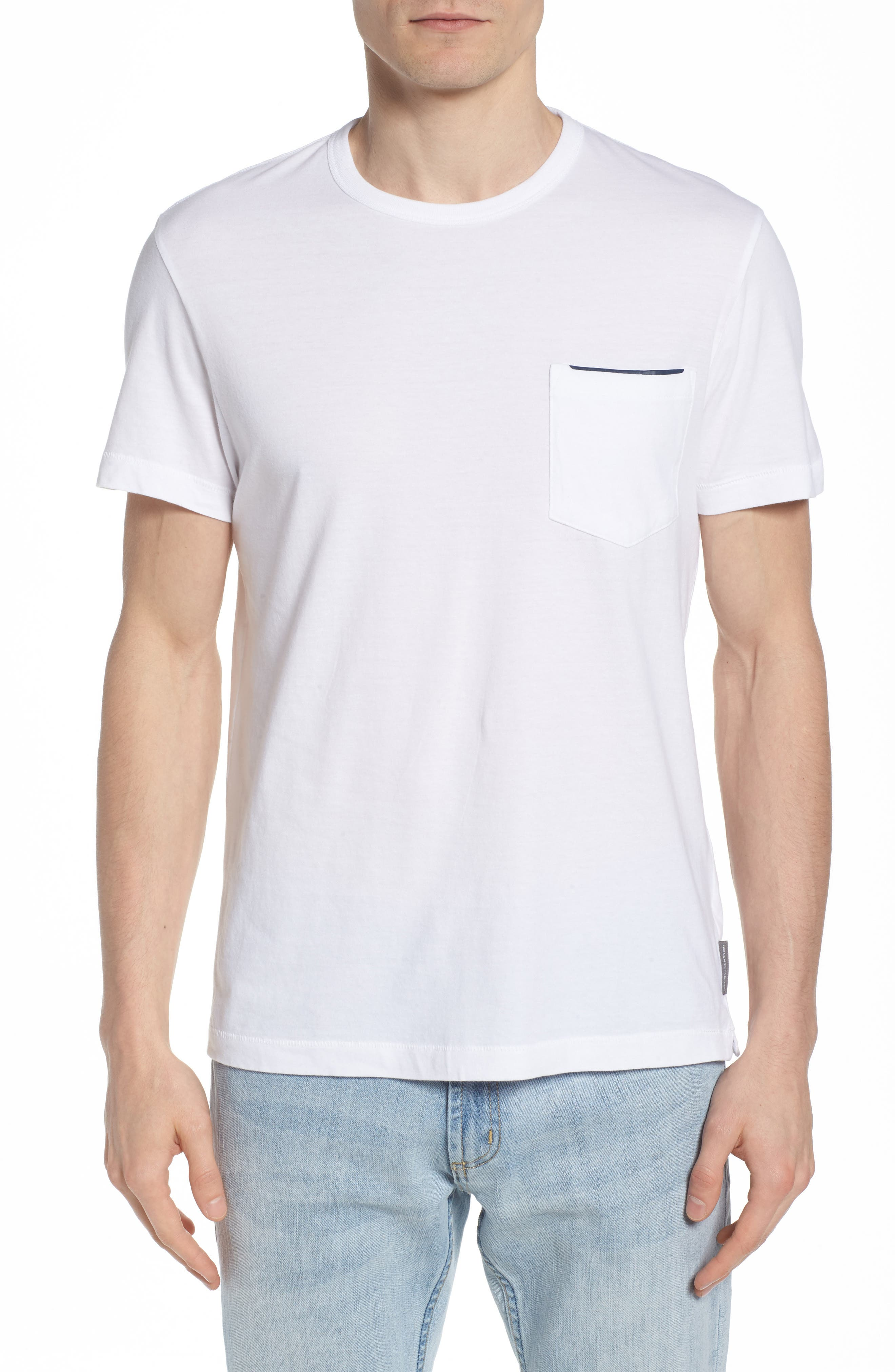 Crewneck Pocket T-Shirt,                         Main,                         color, White