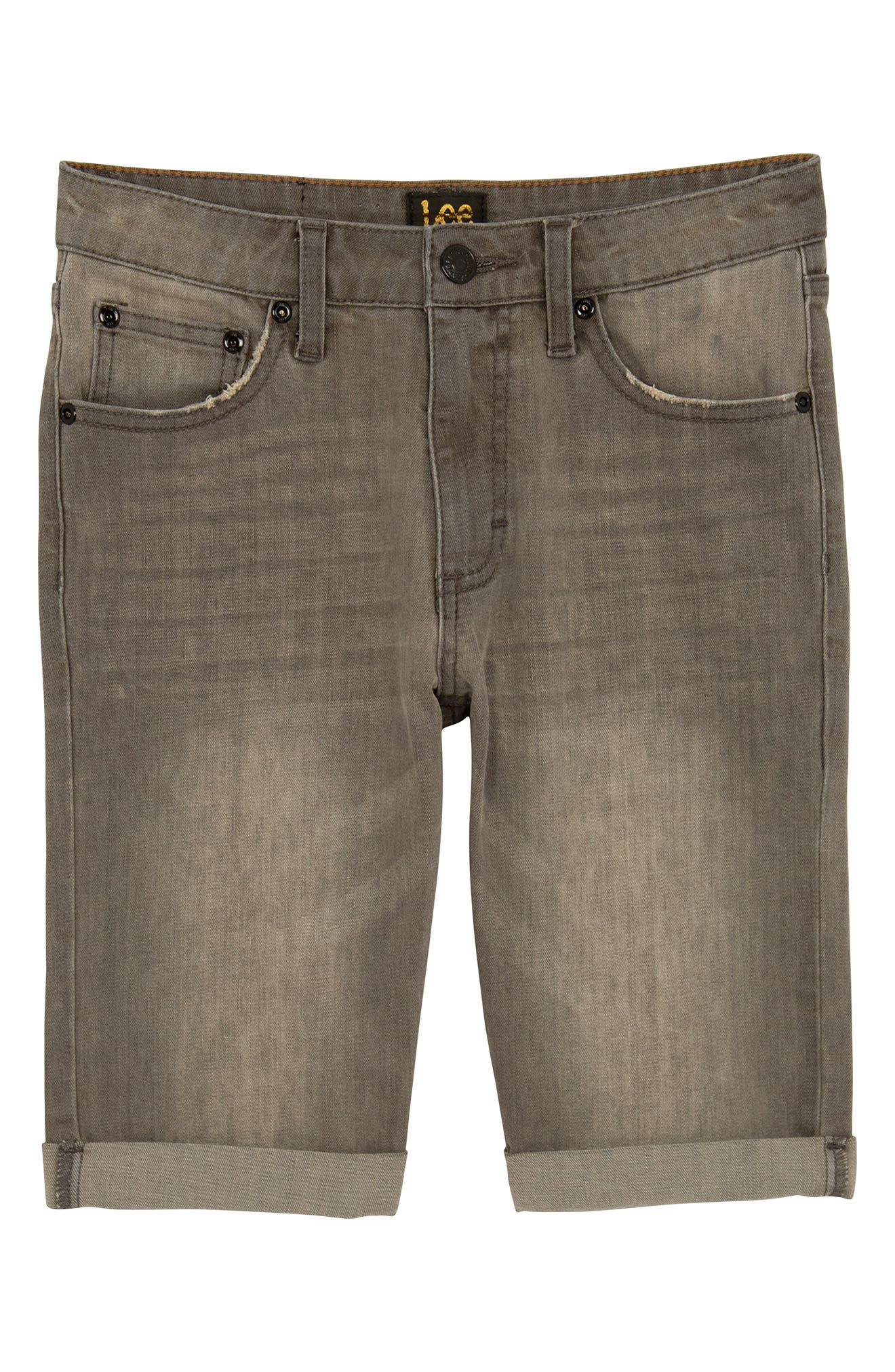 Lee Straight Leg Cuffed Denim Shorts (Big Boys)