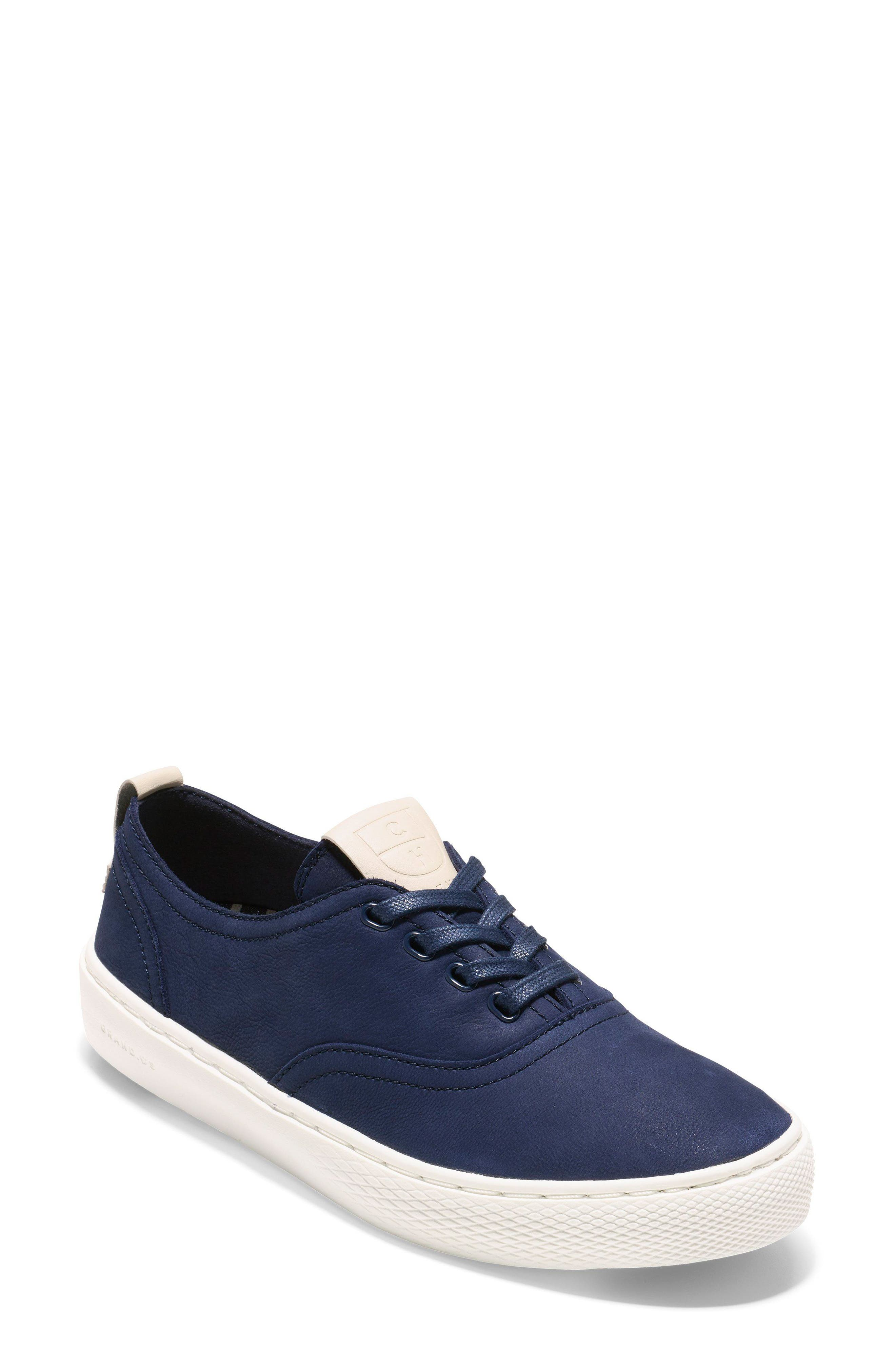 GrandPro Deck Sneaker,                             Main thumbnail 1, color,                             Blue/ White Nubuck