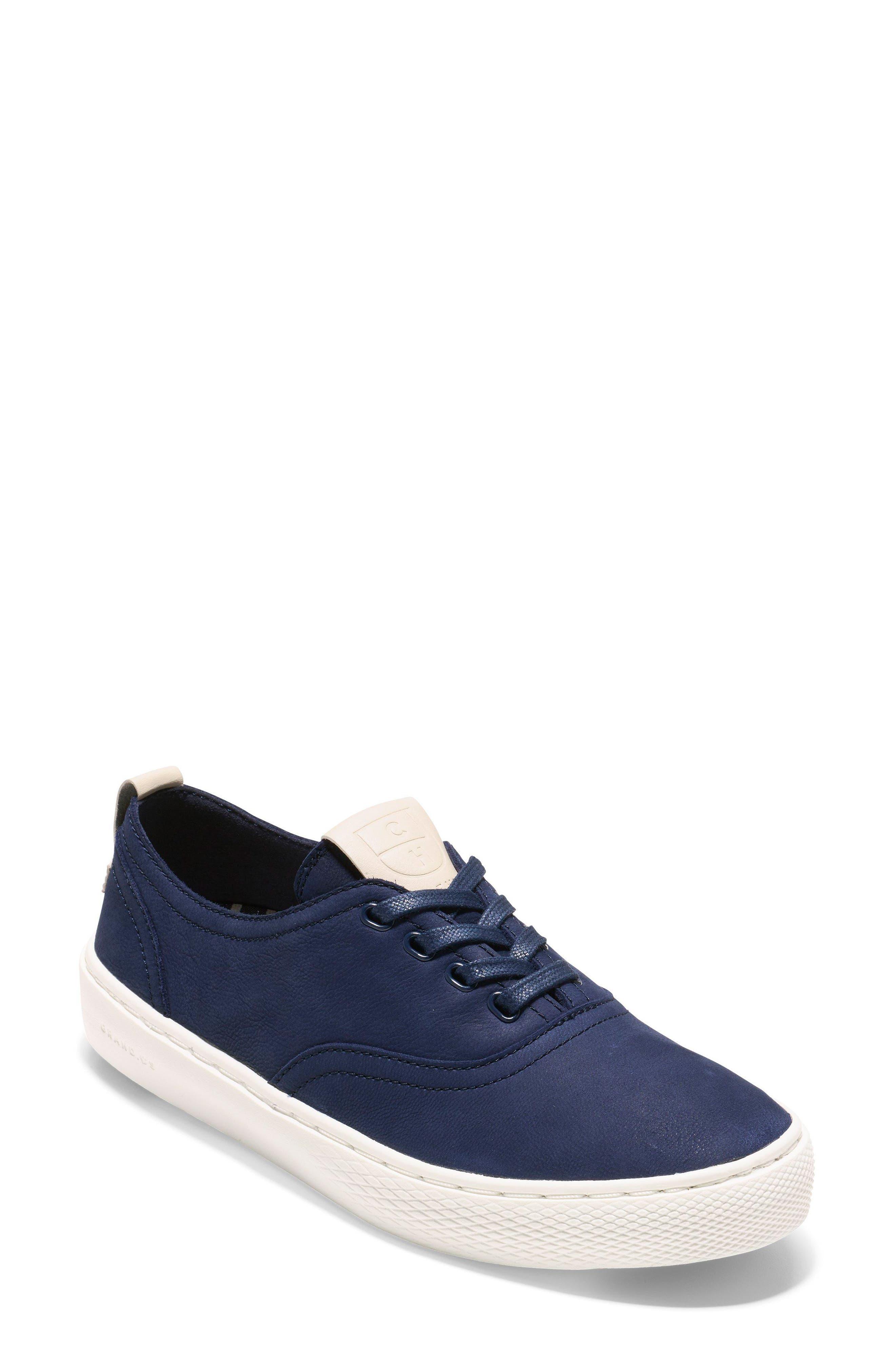 GrandPro Deck Sneaker,                         Main,                         color, Blue/ White Nubuck