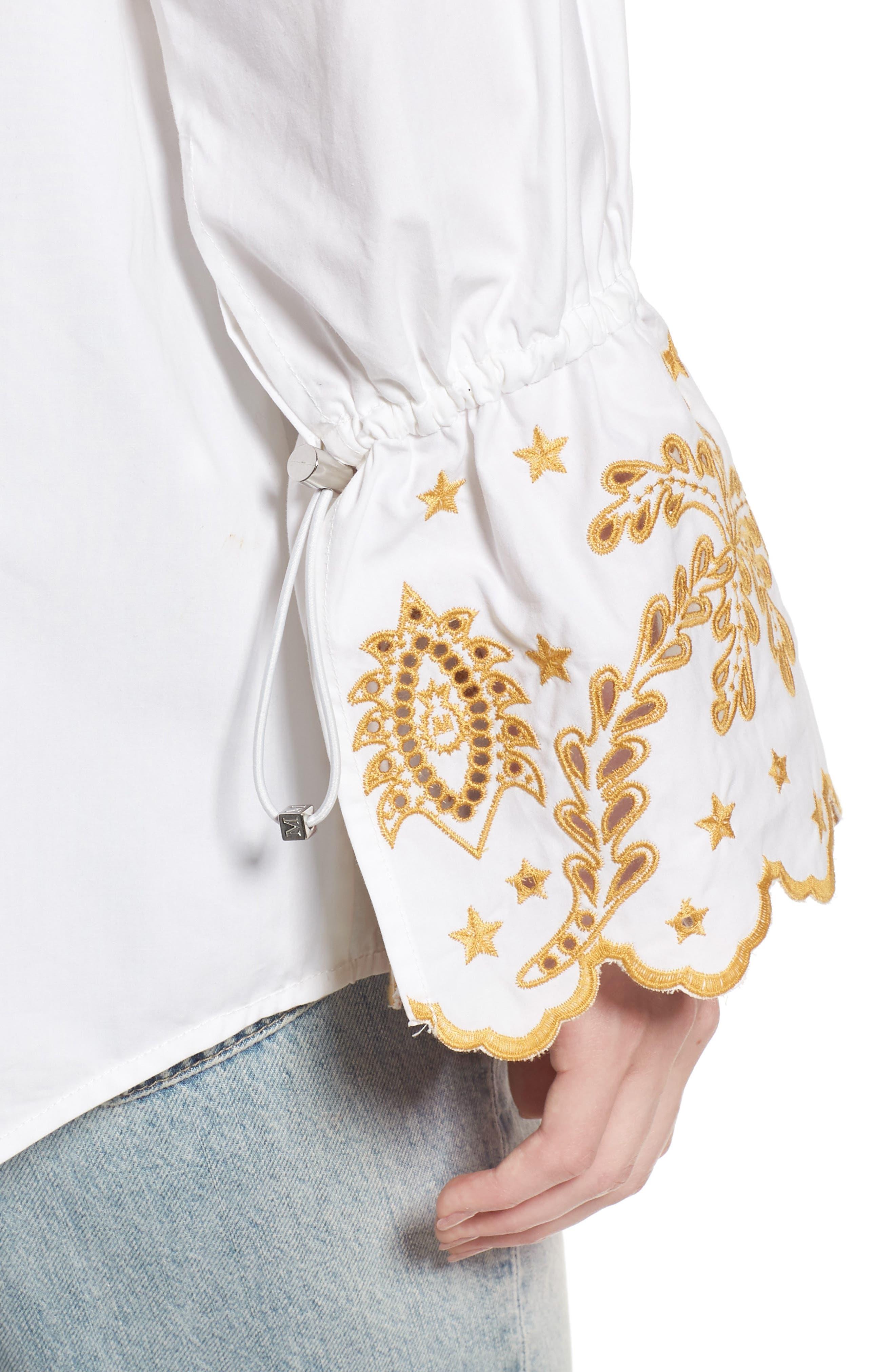 Oversize Button Front Shirt,                             Alternate thumbnail 6, color,                             Color 06 White