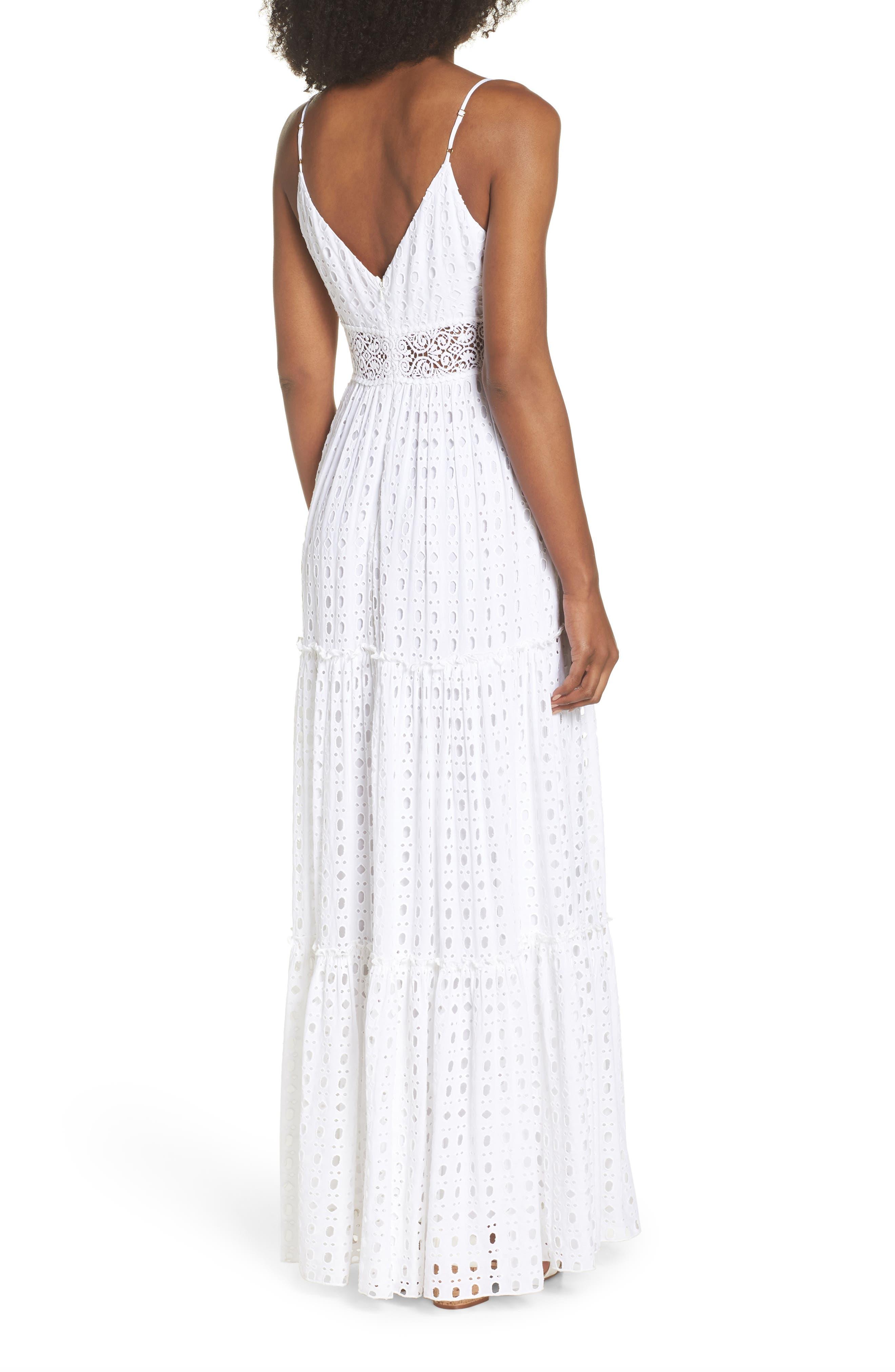 Melody Maxi Dress,                             Alternate thumbnail 2, color,                             Resort White Eyelet