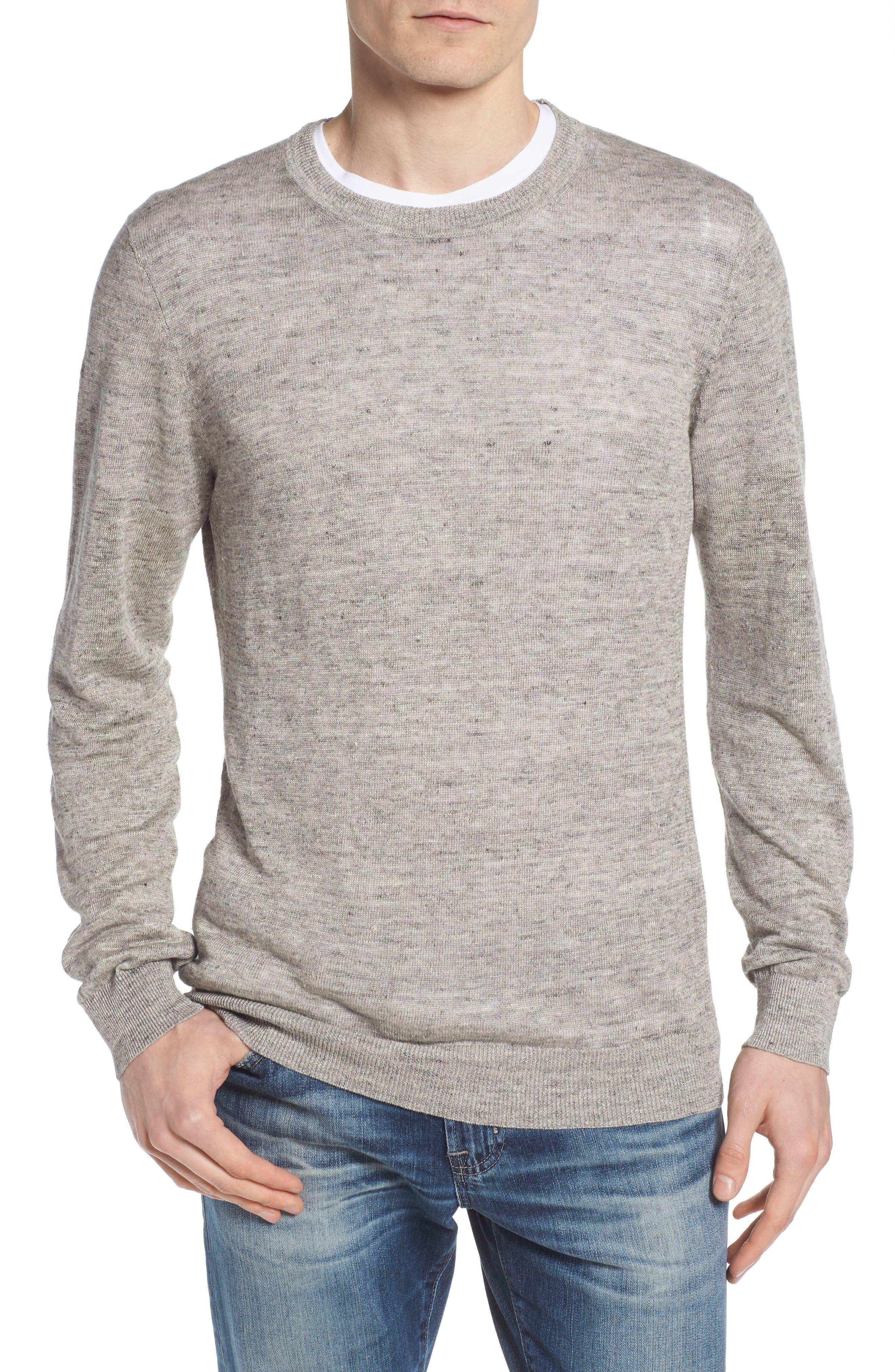 Heyward Long Sleeve T-Shirt,                         Main,                         color, Heather Grey