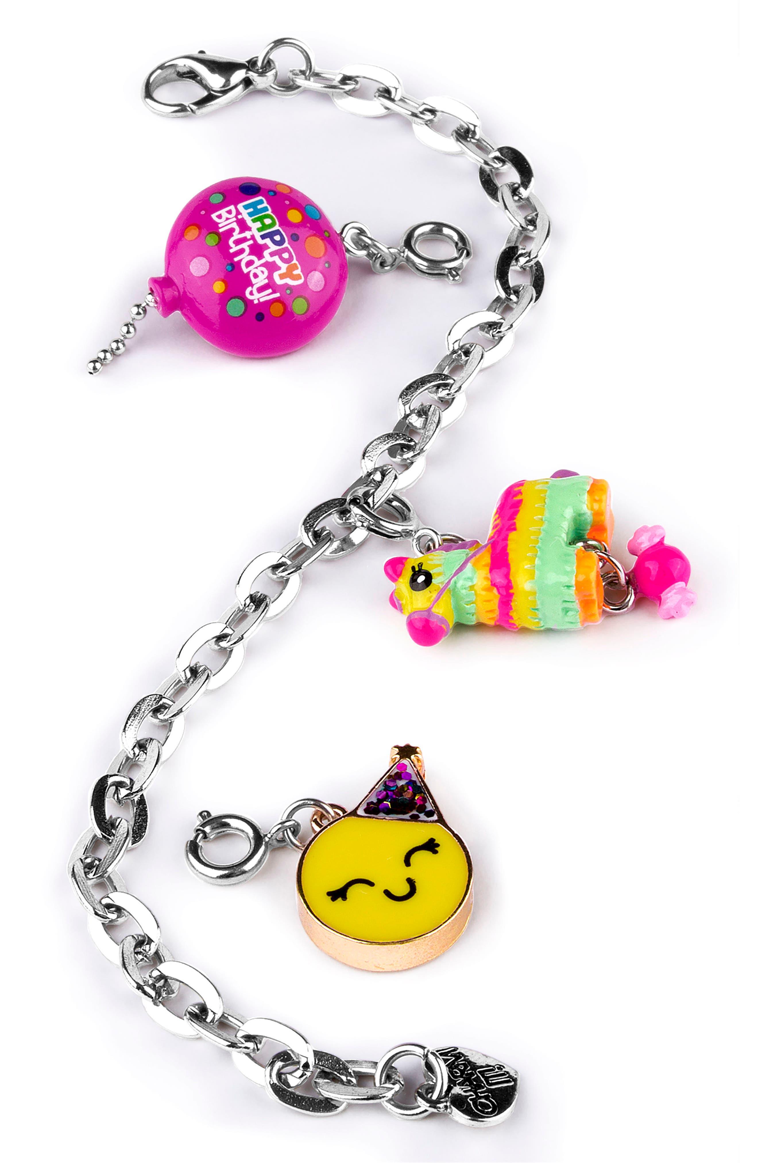 CHARM IT!<sup>®</sup> Birthday Charm Bracelet Gift Set,                         Main,                         color, Multi