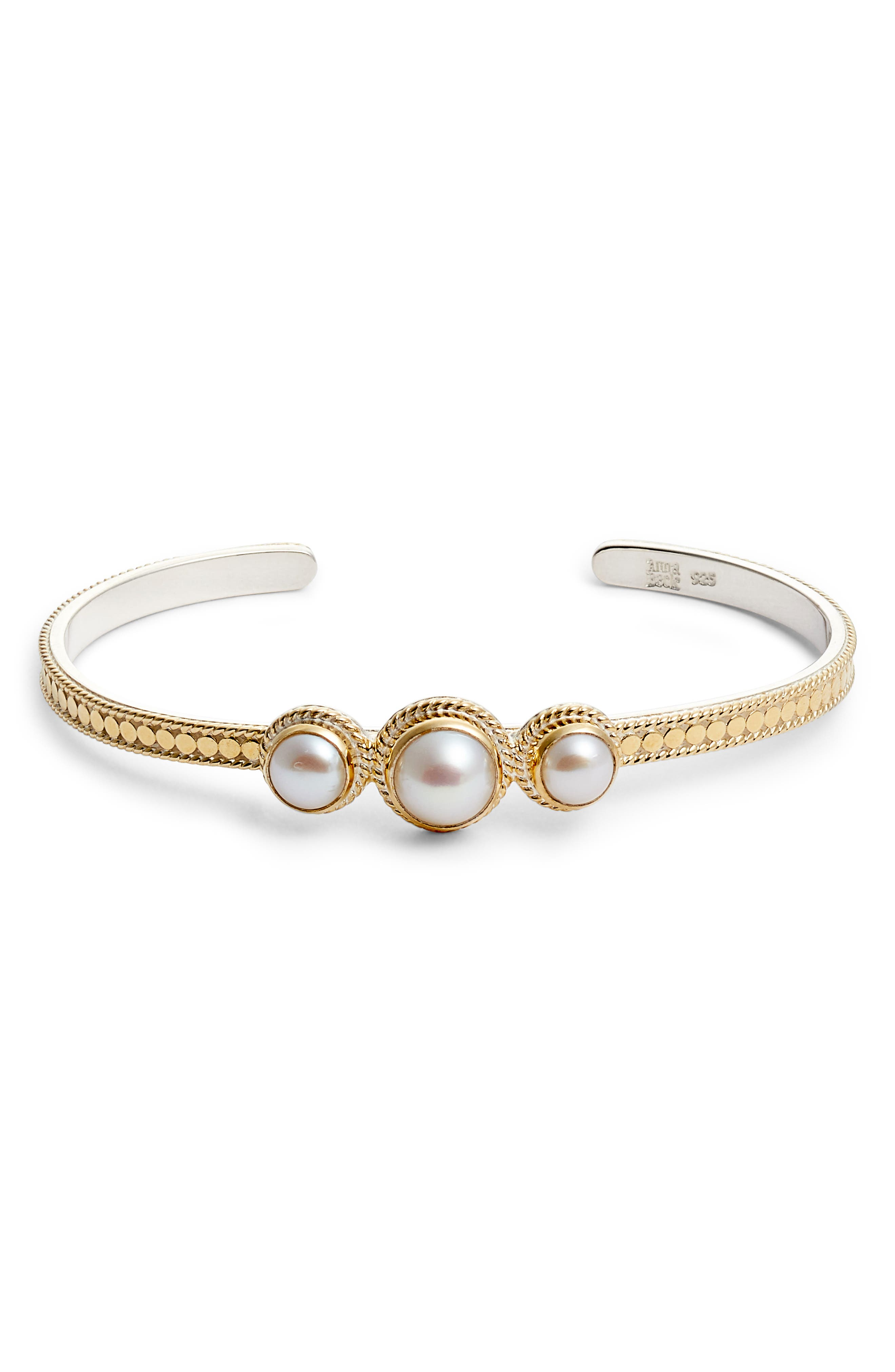 Anna Beck Triple Pearl Cuff Bracelet
