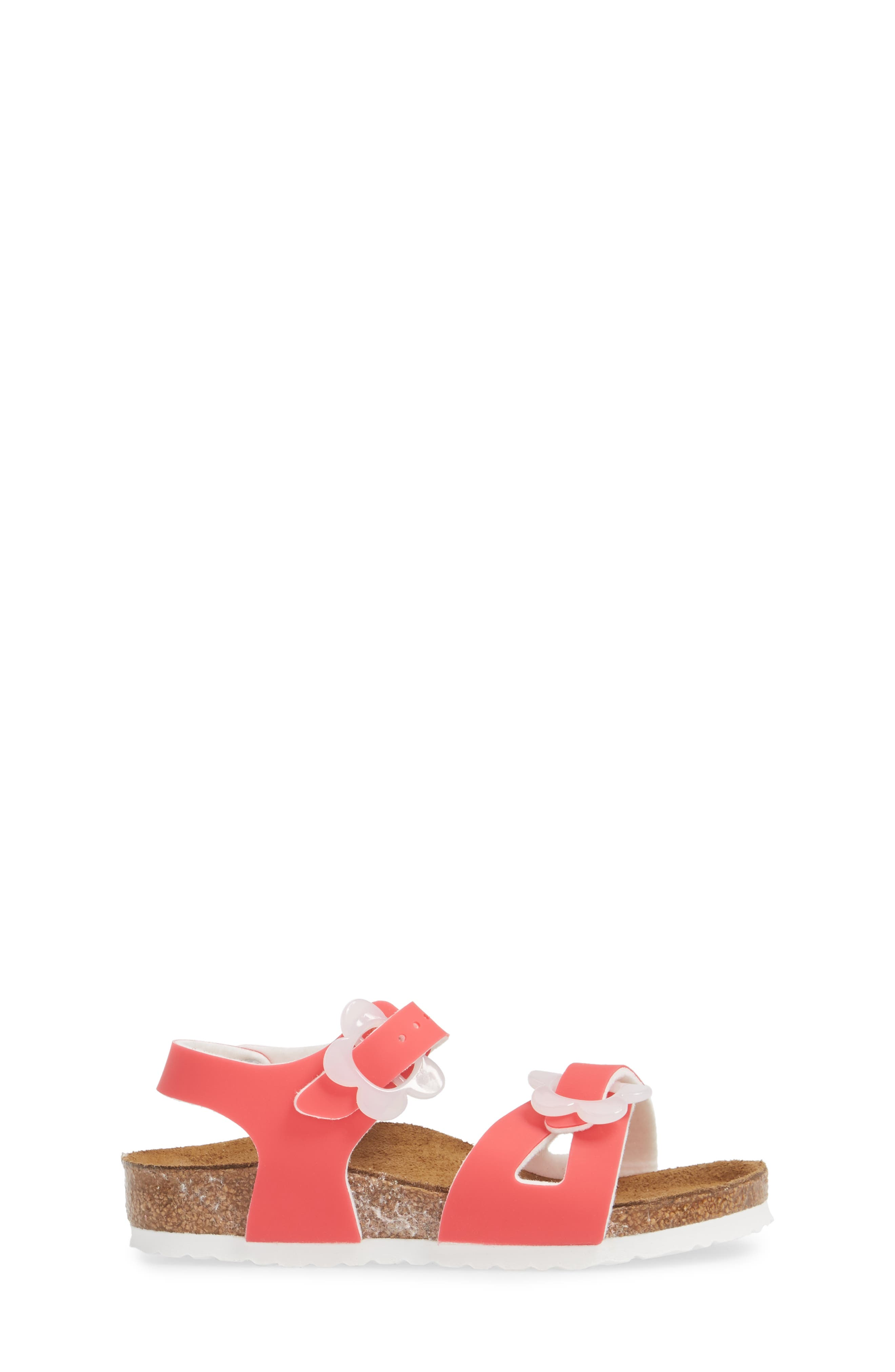 Rio Flowered Sandal,                             Alternate thumbnail 3, color,                             Candy Pink
