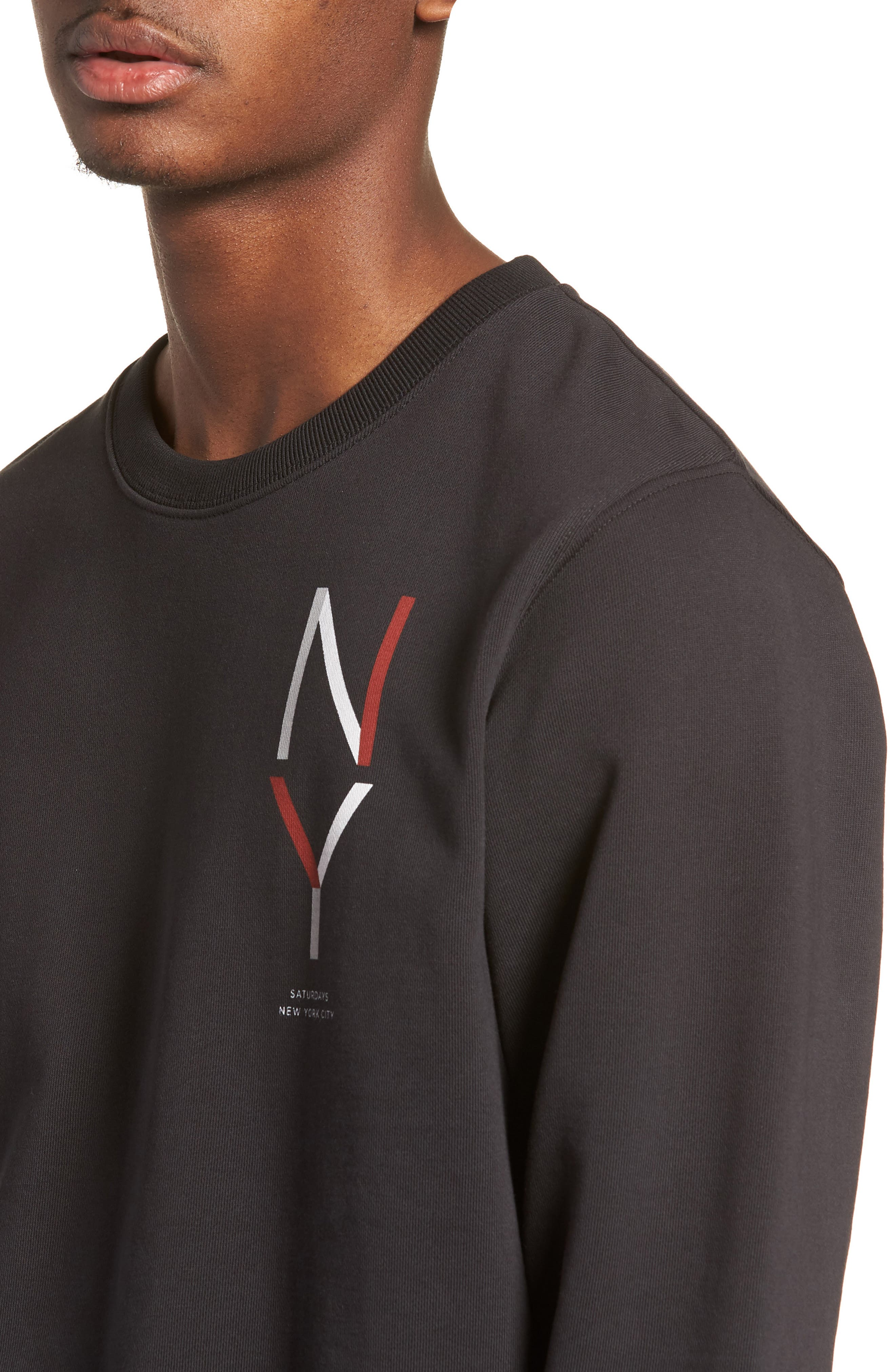 Bowery NY Sweatshirt,                             Alternate thumbnail 4, color,                             Black