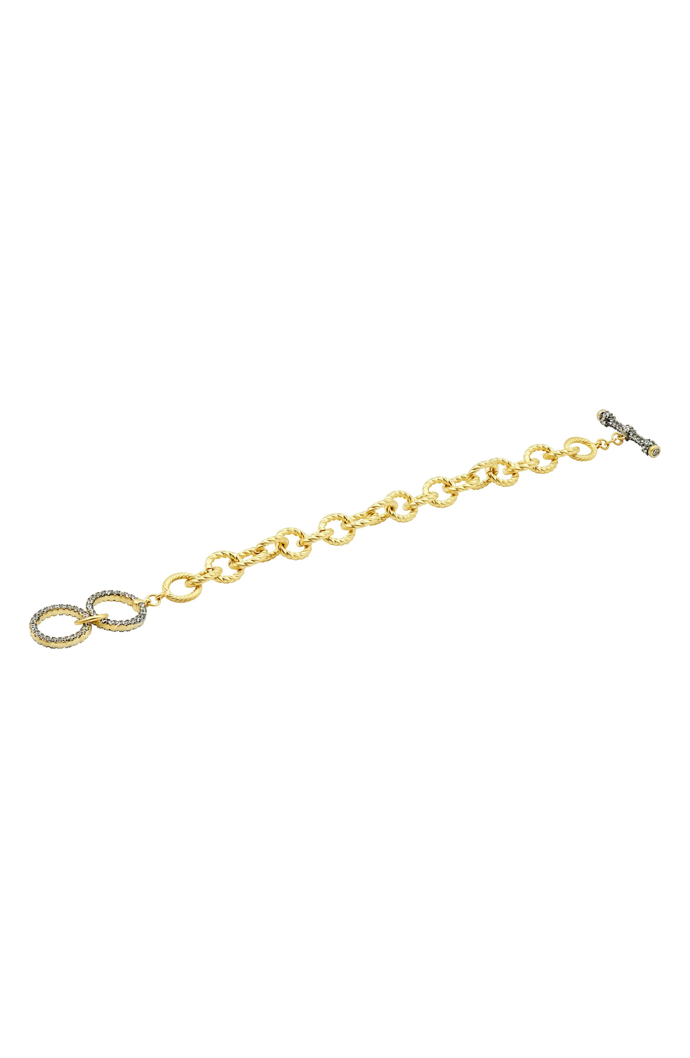 Pave Toggle Chain Link Bracelet,                         Main,                         color, Gold