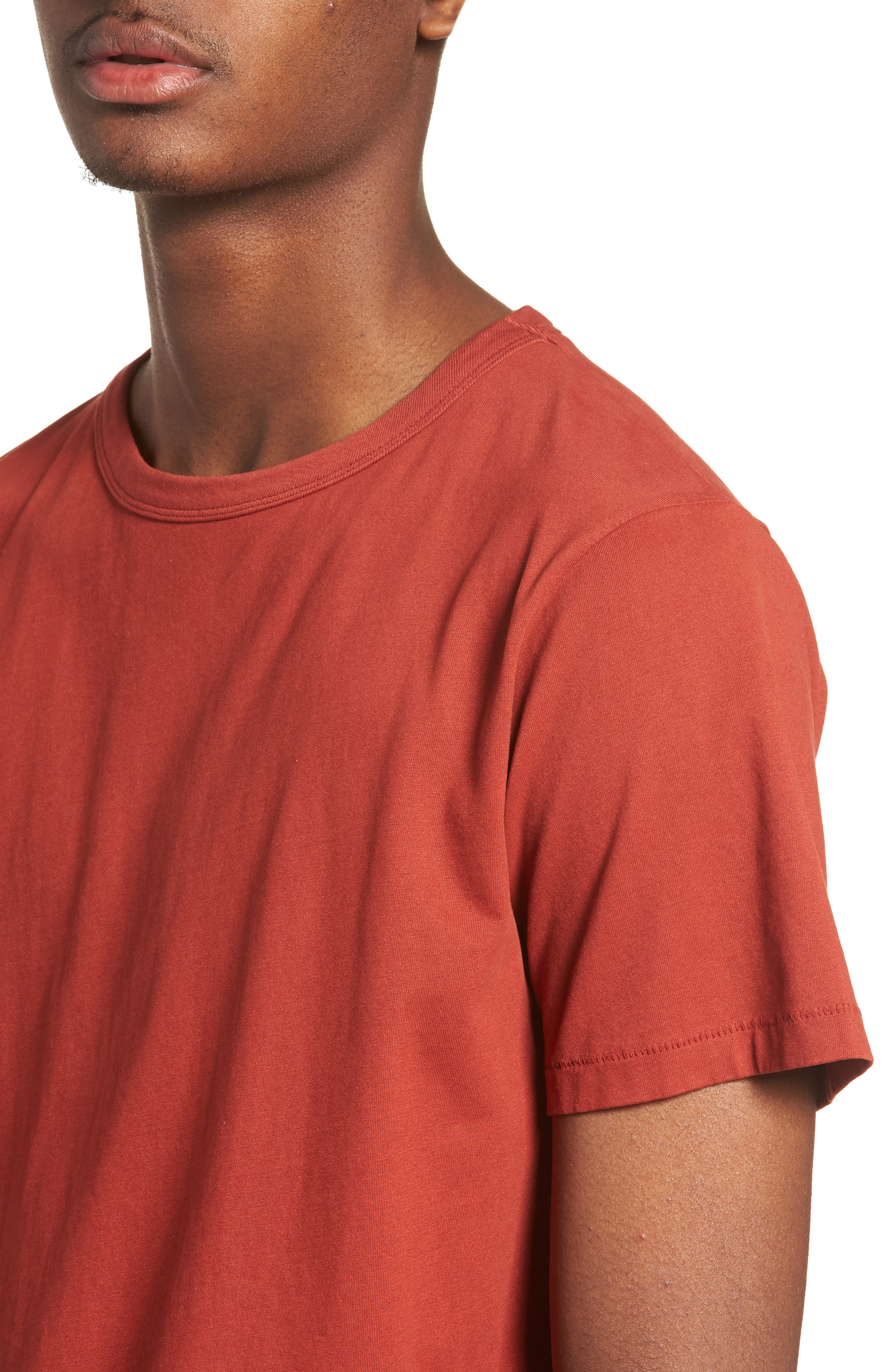 Brandon Pima T-Shirt,                             Alternate thumbnail 4, color,                             Brick