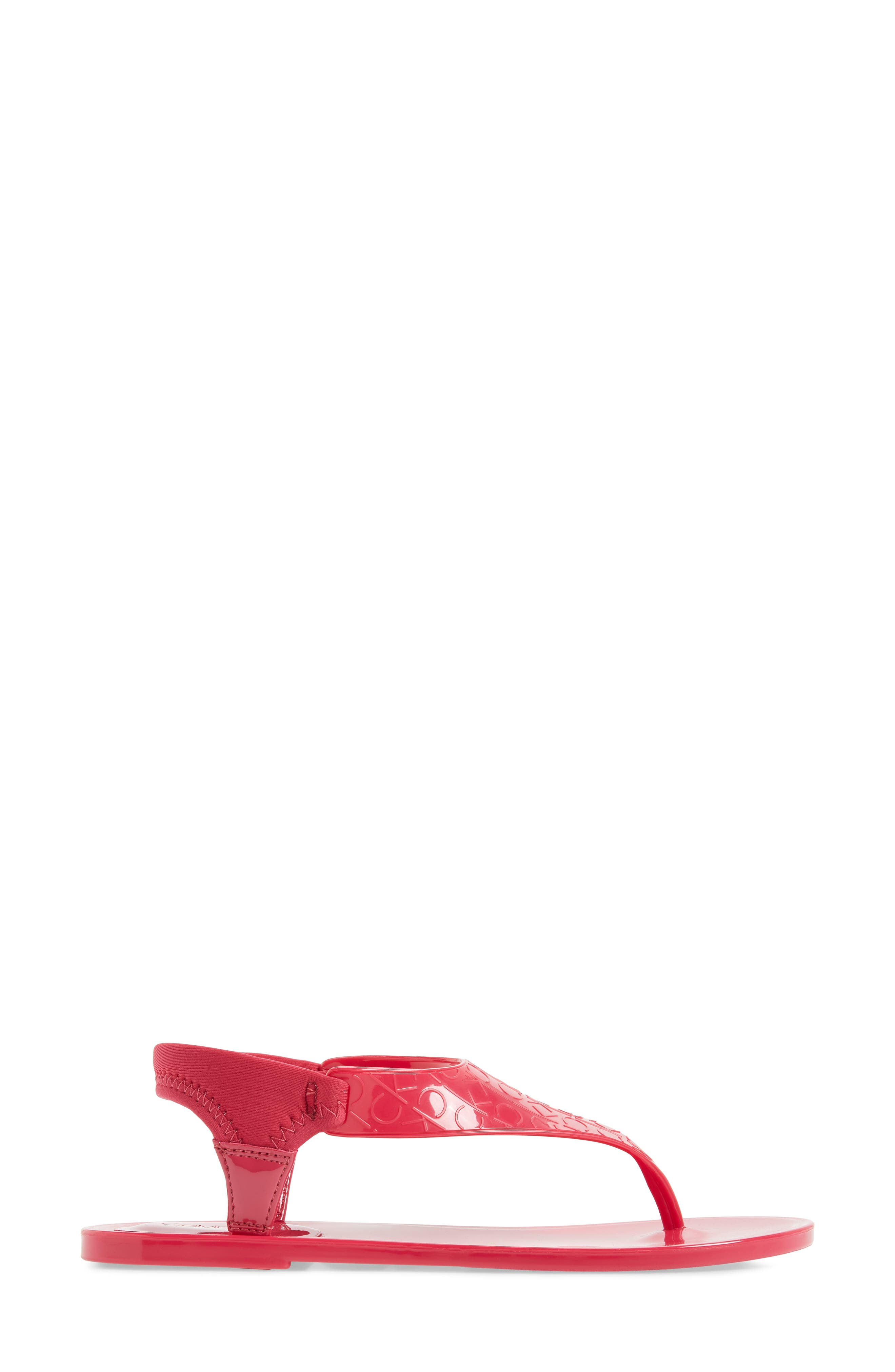 Janny Jelly Sandal,                             Alternate thumbnail 3, color,                             Hibiscus Pink