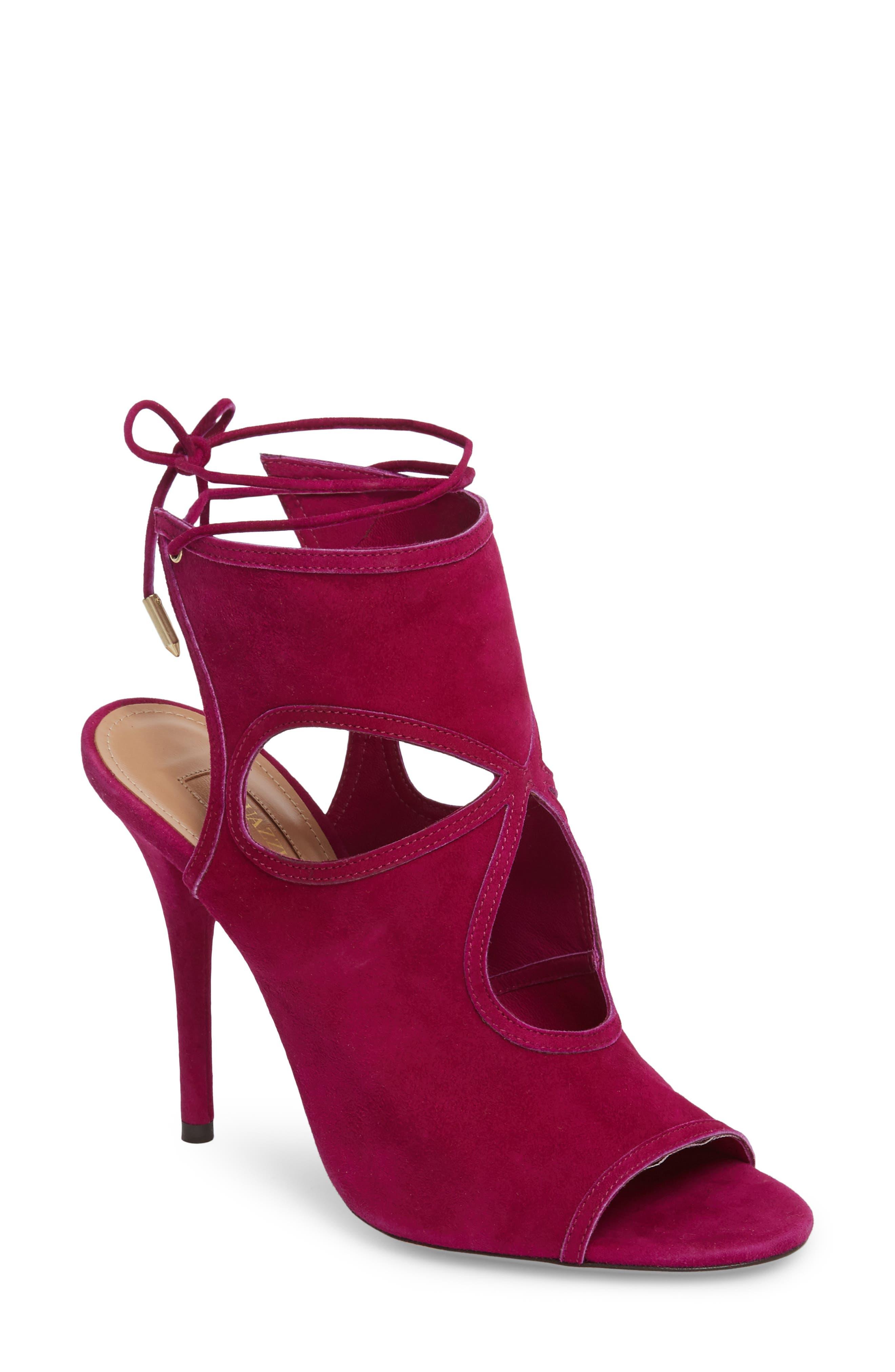 Aquazzura Sexy Thing Ankle Shield Sandal (Women)