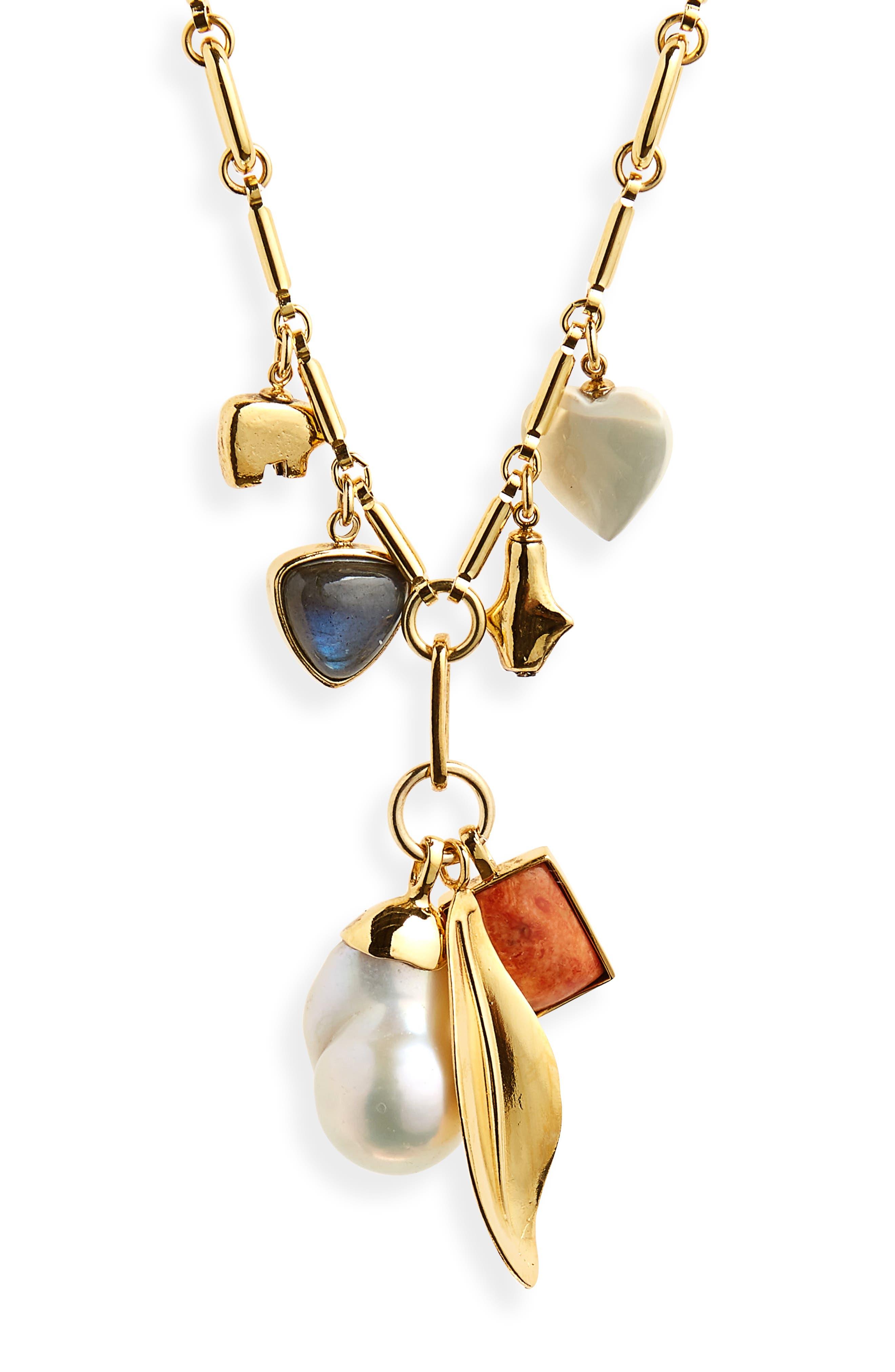 Lizzie Fortunato Marian Amulet Pendant Necklace