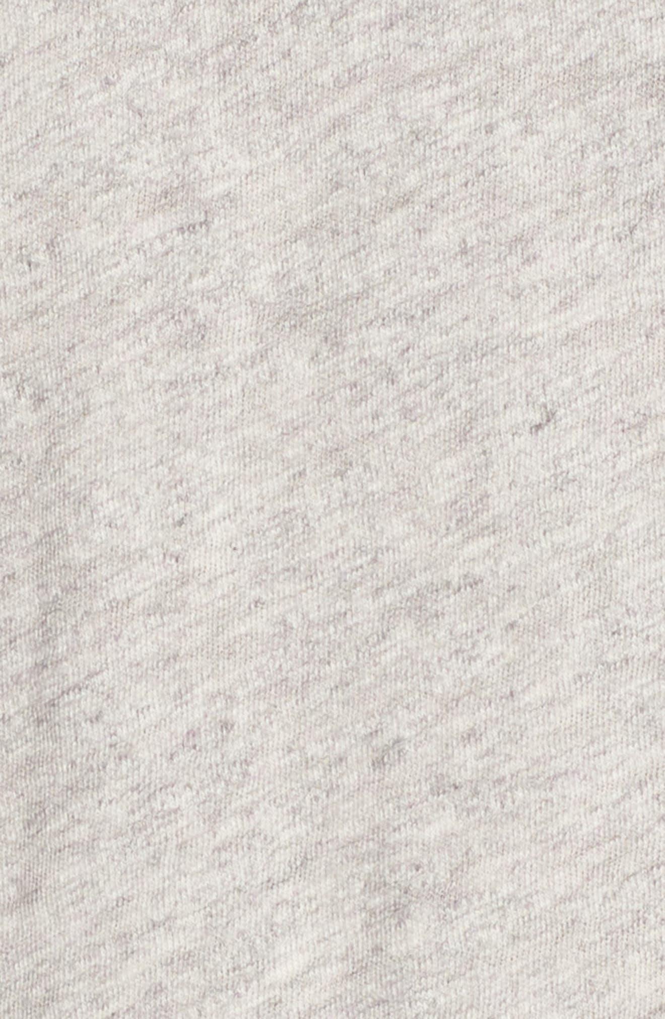 + Champion Heathered Crewneck T-Shirt,                             Alternate thumbnail 5, color,                             Antique Grey Mix