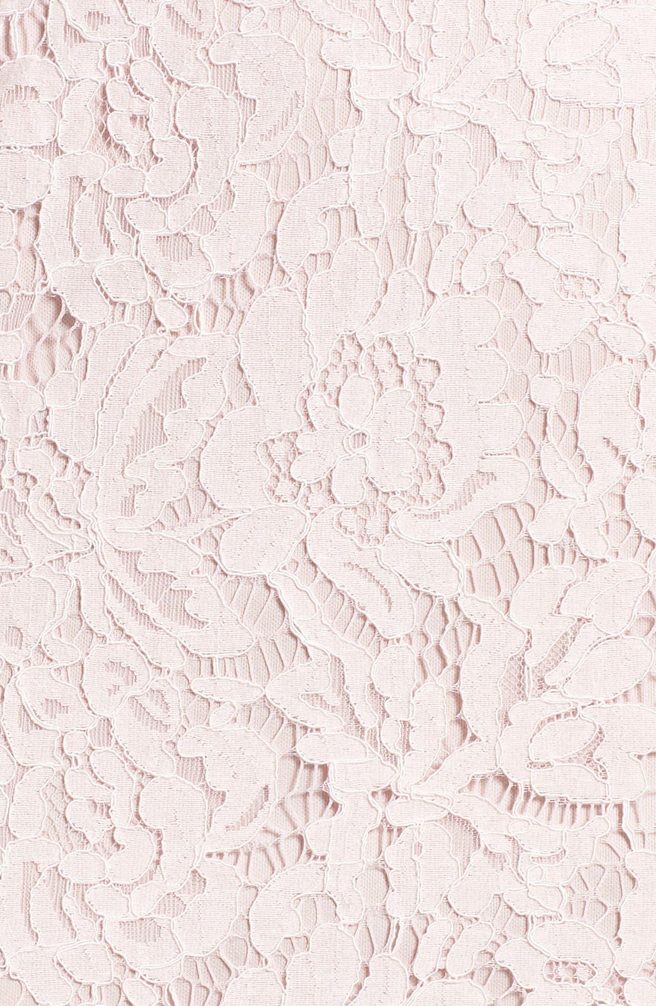 Popover Lace Dress,                             Alternate thumbnail 6, color,                             Pale Pink