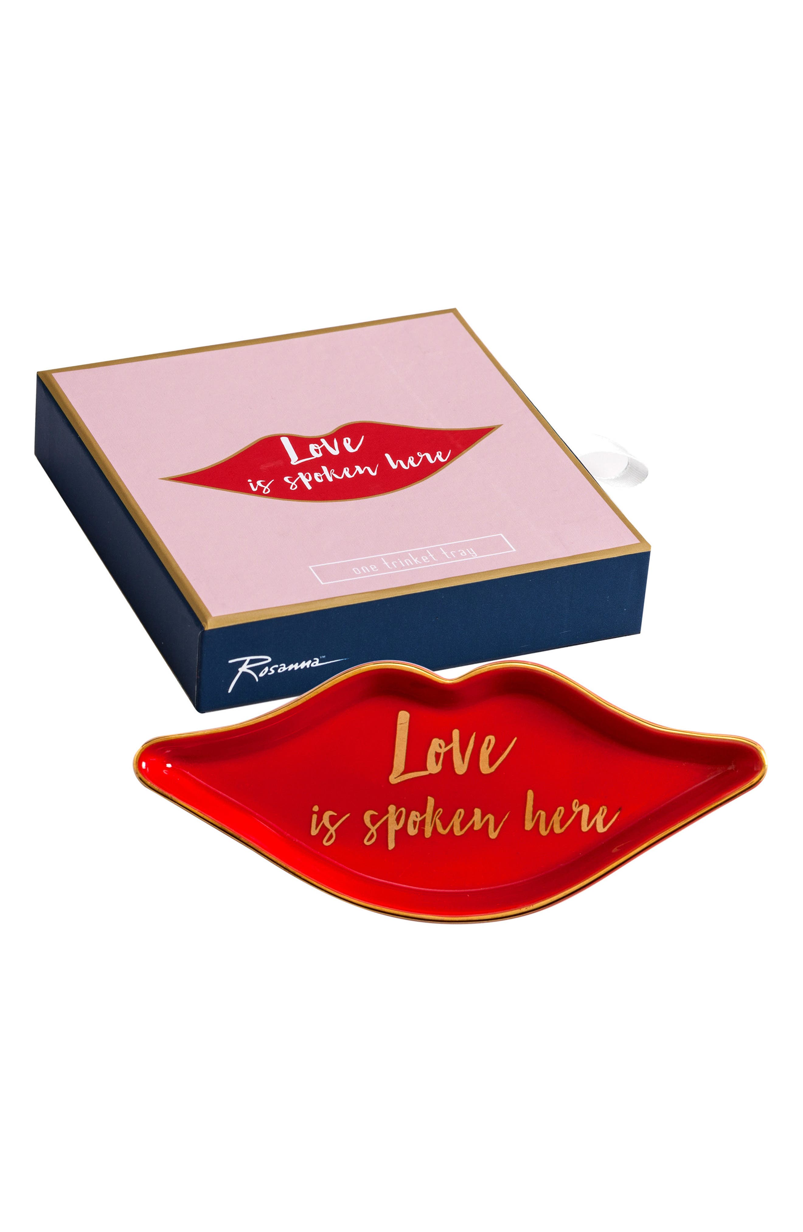 Love Is Spoken Here Tray,                             Main thumbnail 1, color,                             Red
