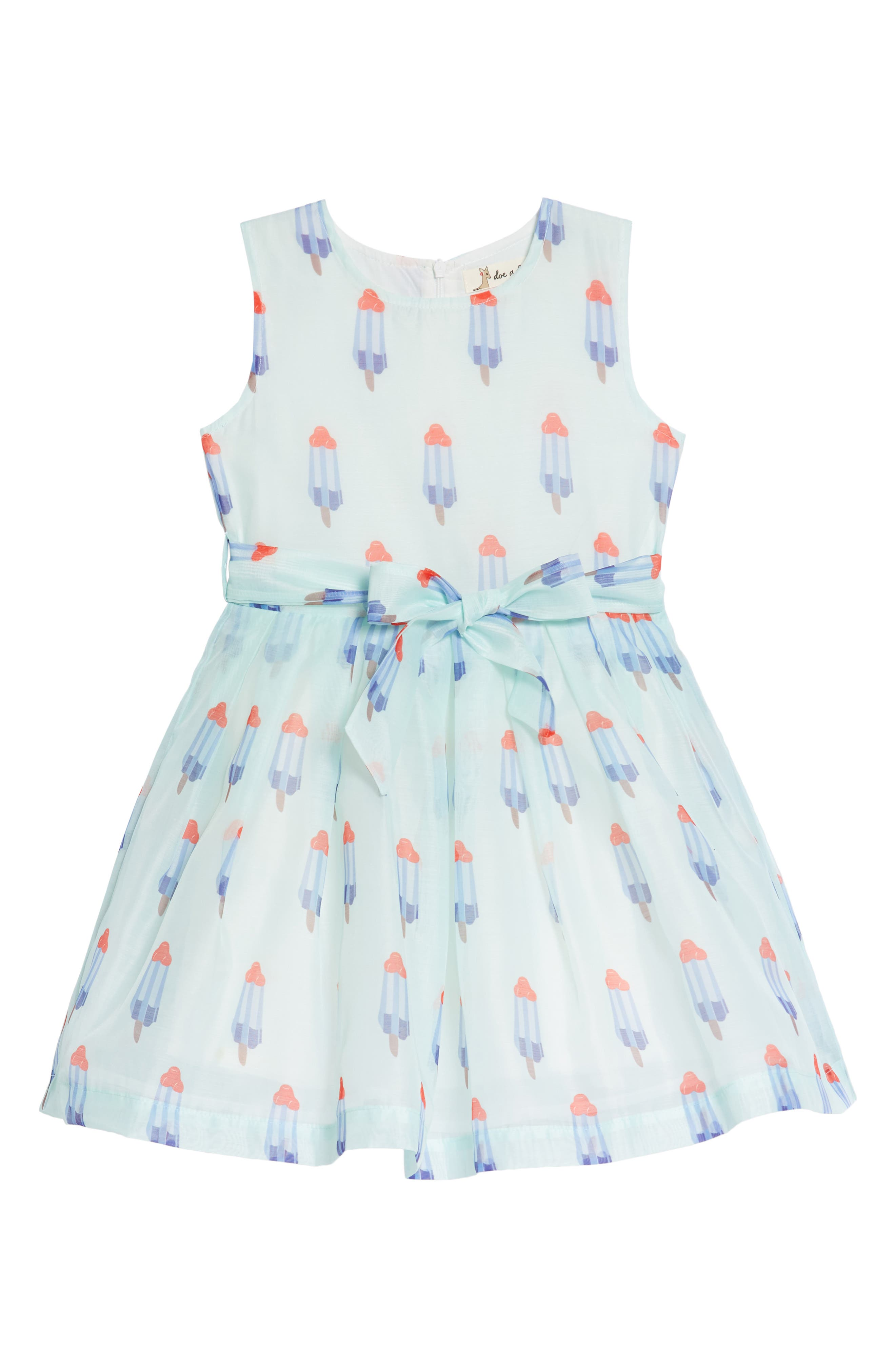 Popsicle Print Fit & Flare Dress,                         Main,                         color, Mint