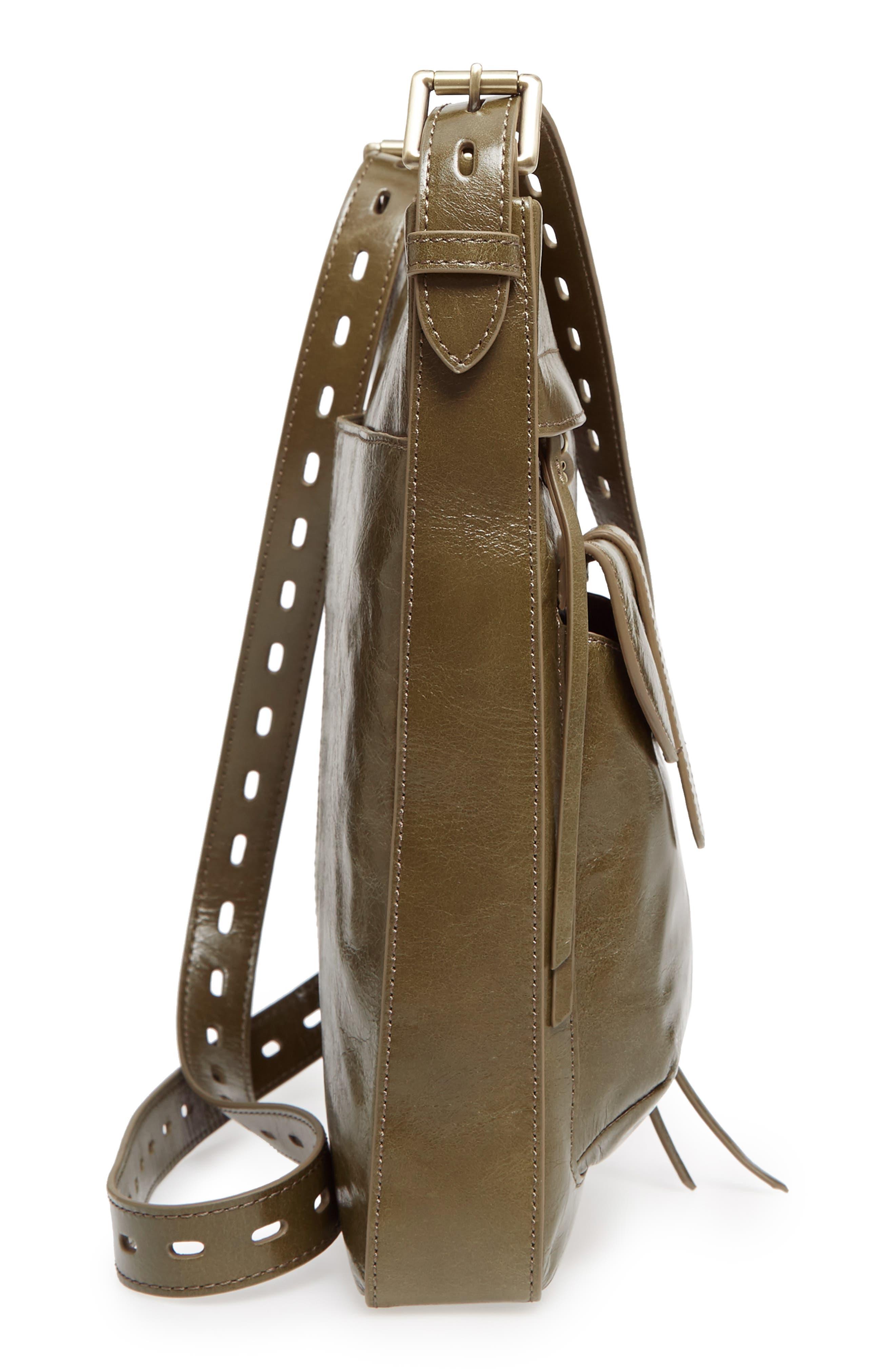 Crusade Leather Crossbody Bag,                             Alternate thumbnail 5, color,                             Willow